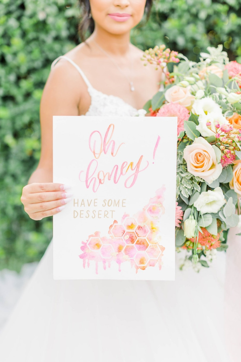 Oh honey! wedding dessert sign