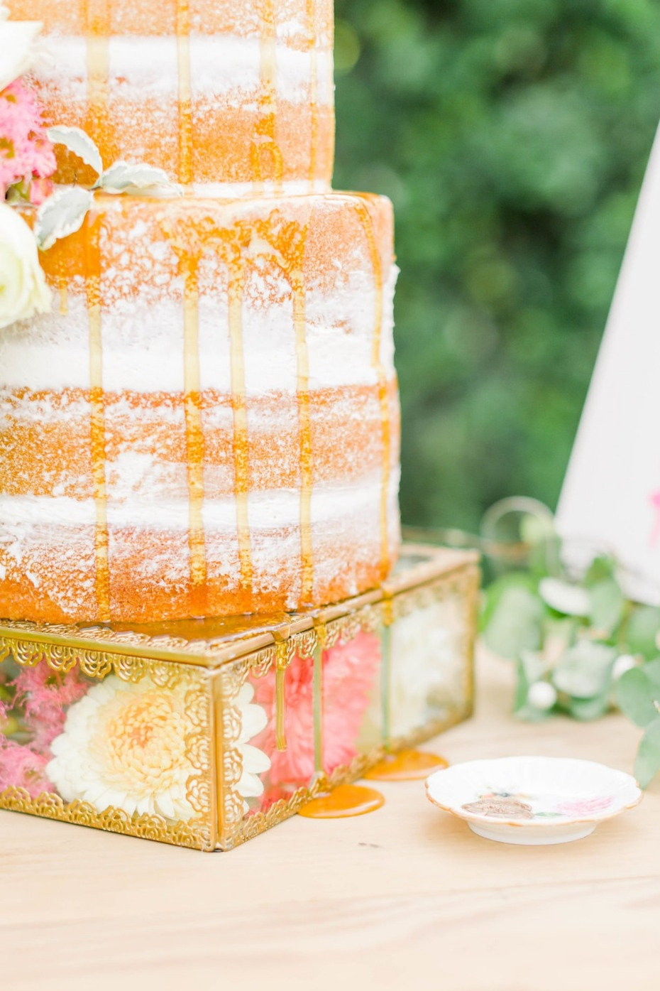 Honey drizzle wedding cake