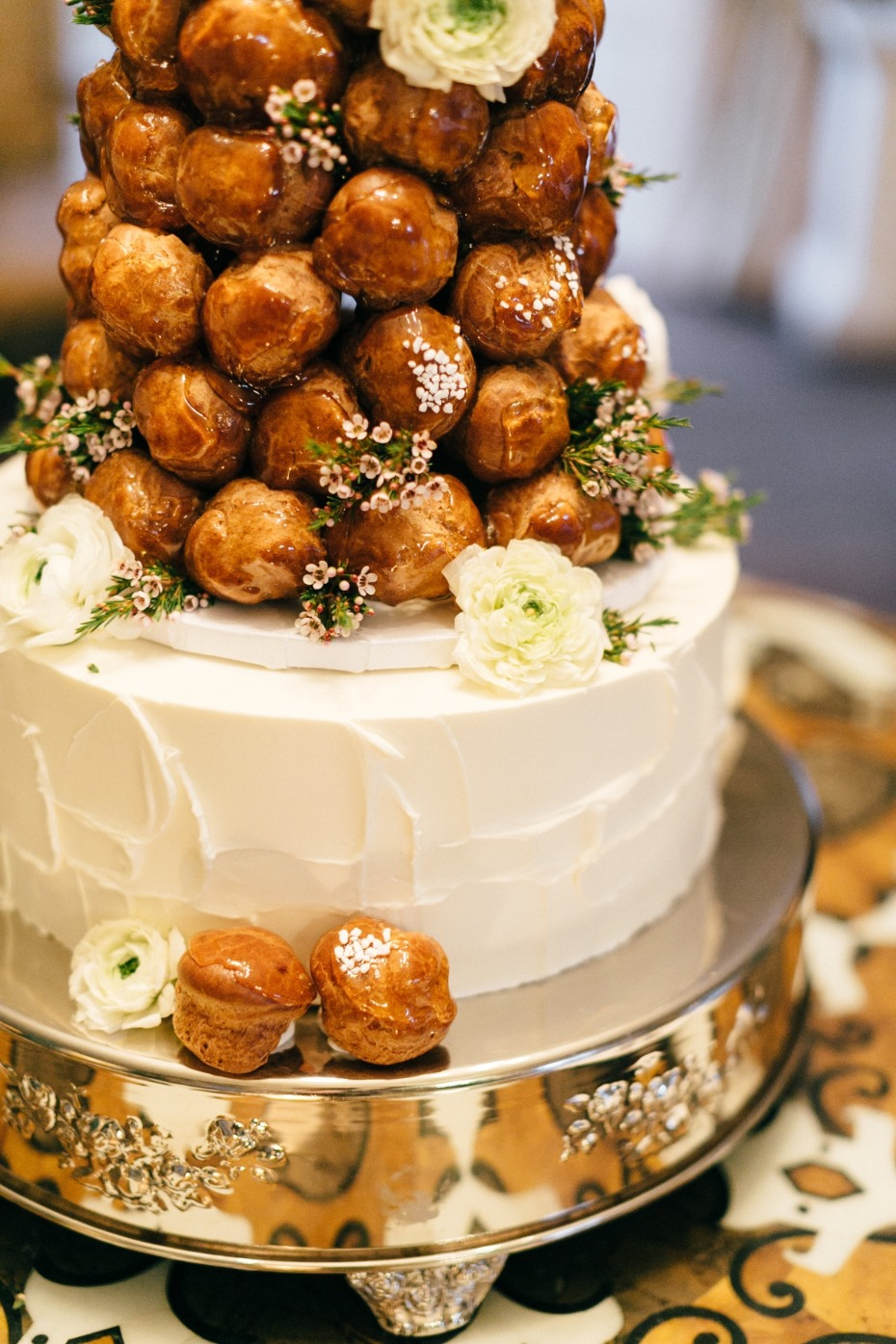 French-inspired croquembouche cake