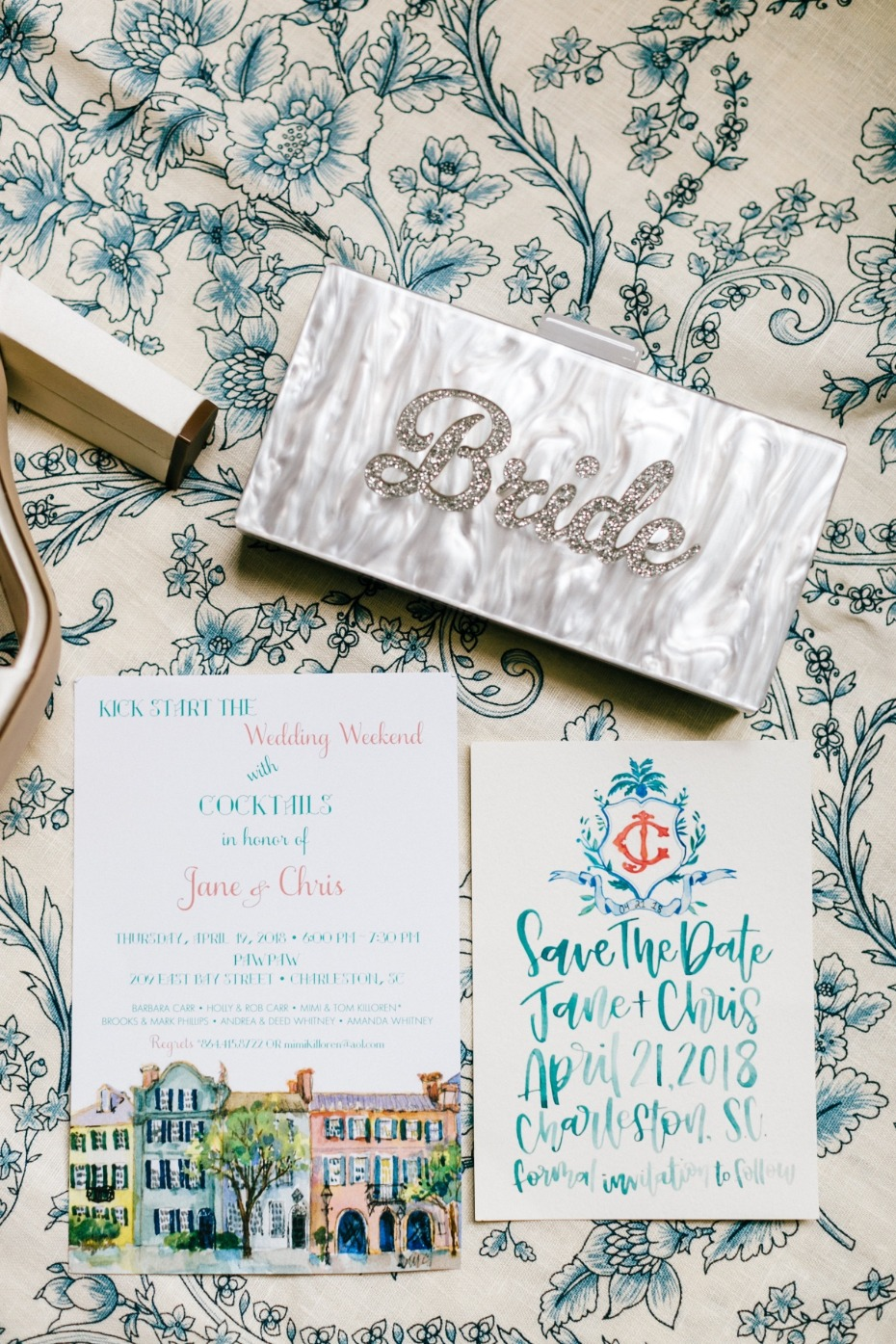 Colorful wedding invite