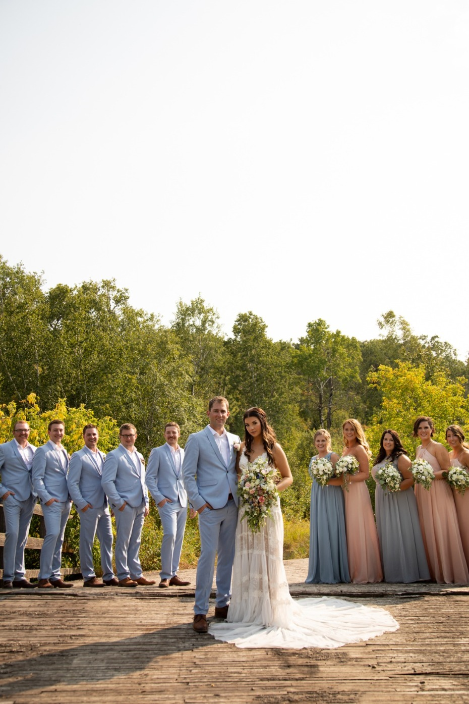 A Blush And Blue Barn Wedding