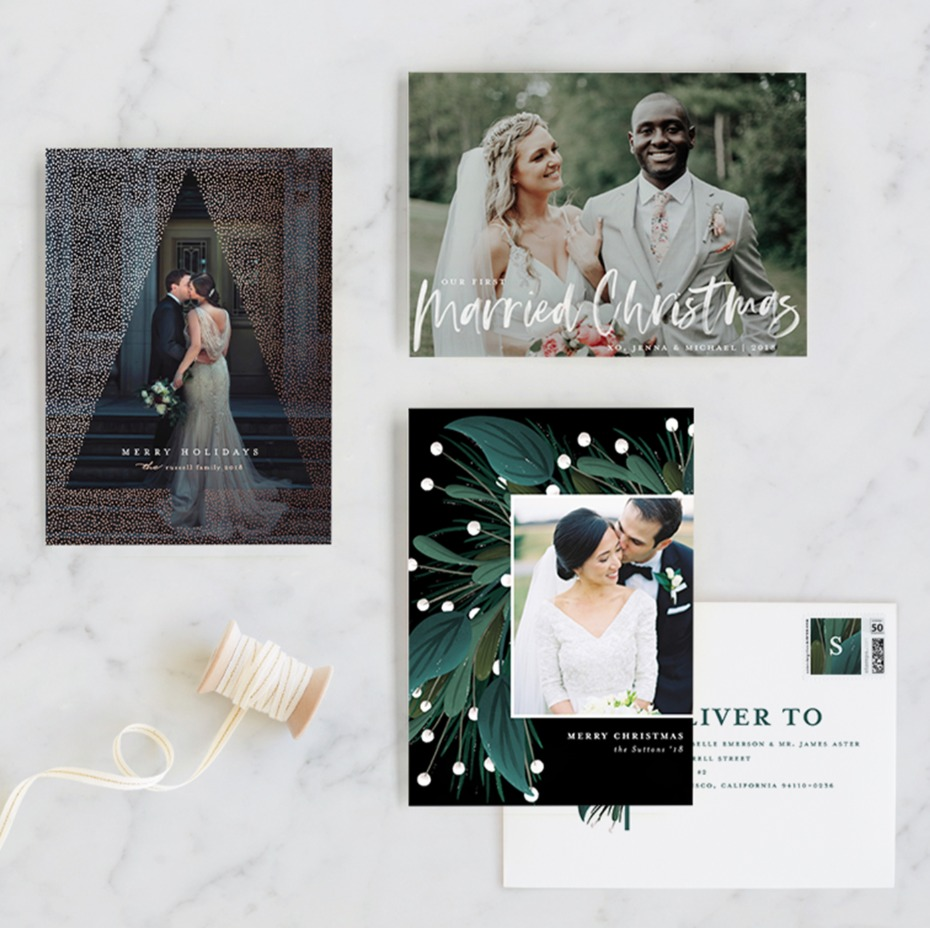 Wedding Holiday Cards from Minted