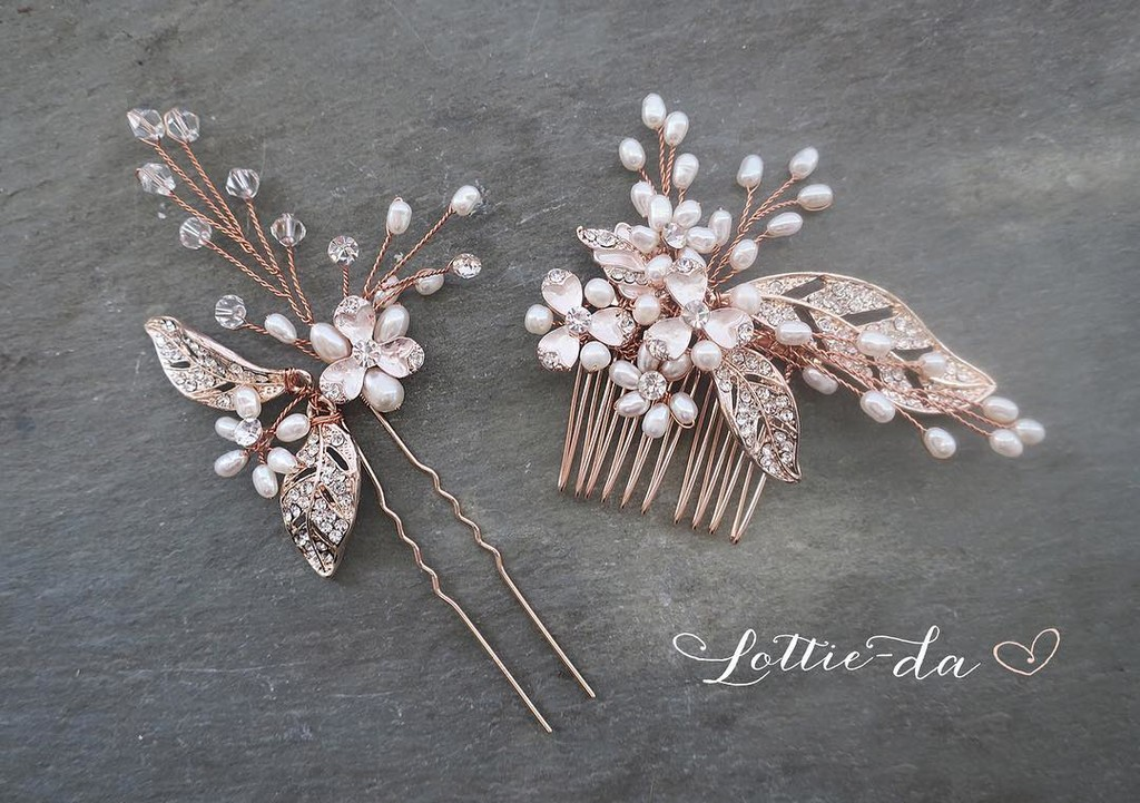 "My top selling ""Callie Hair Comb and Pin now available in Rose Gold!"
