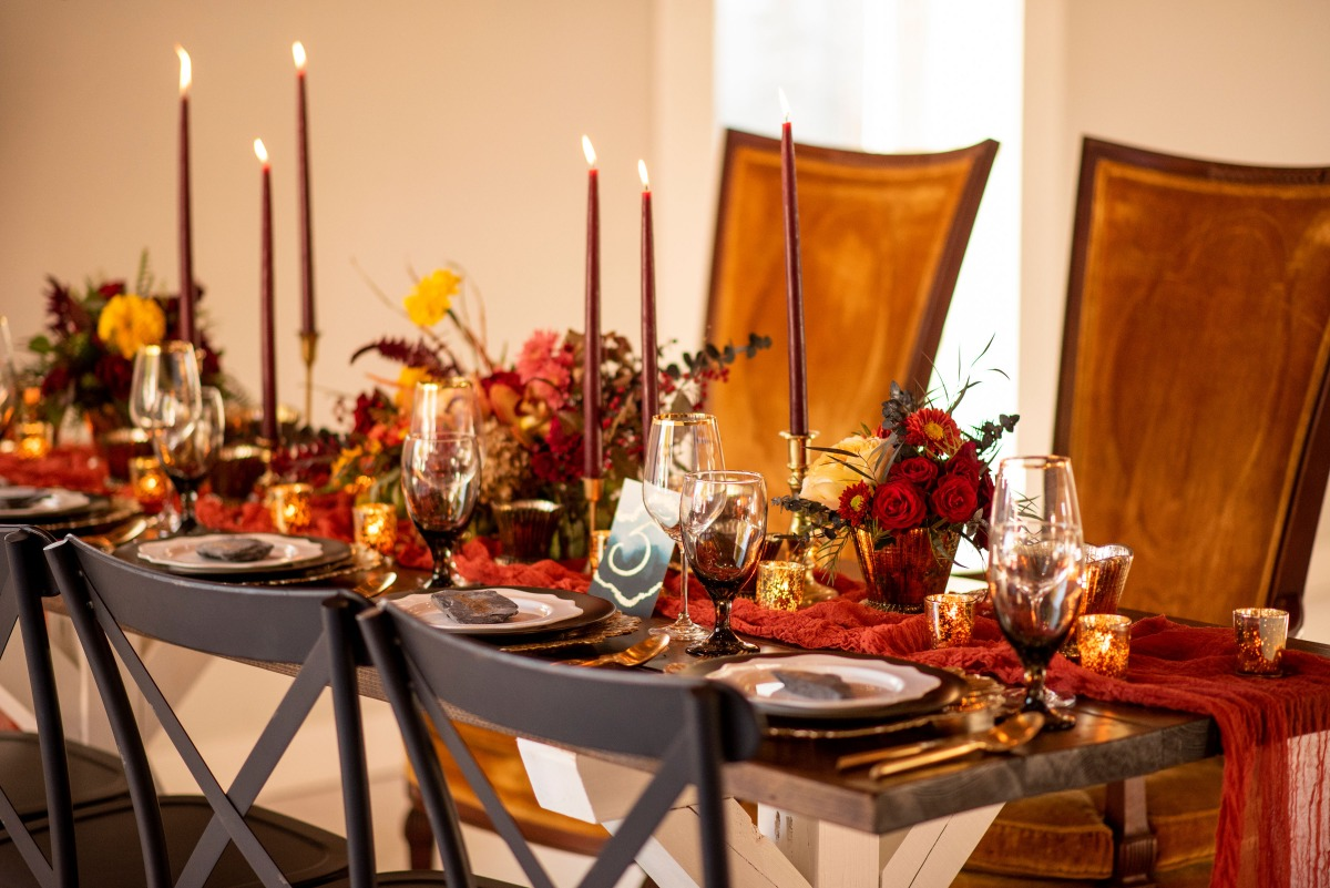 Moody fall tablescape