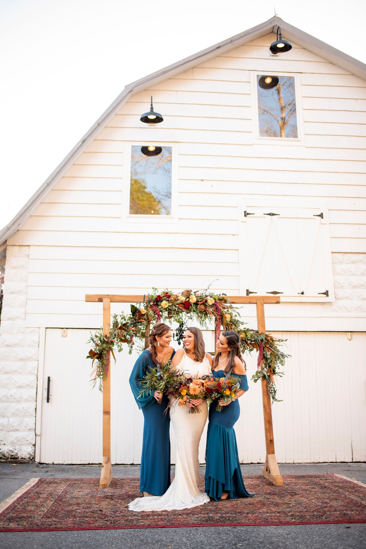 Bridesmaids style in blue