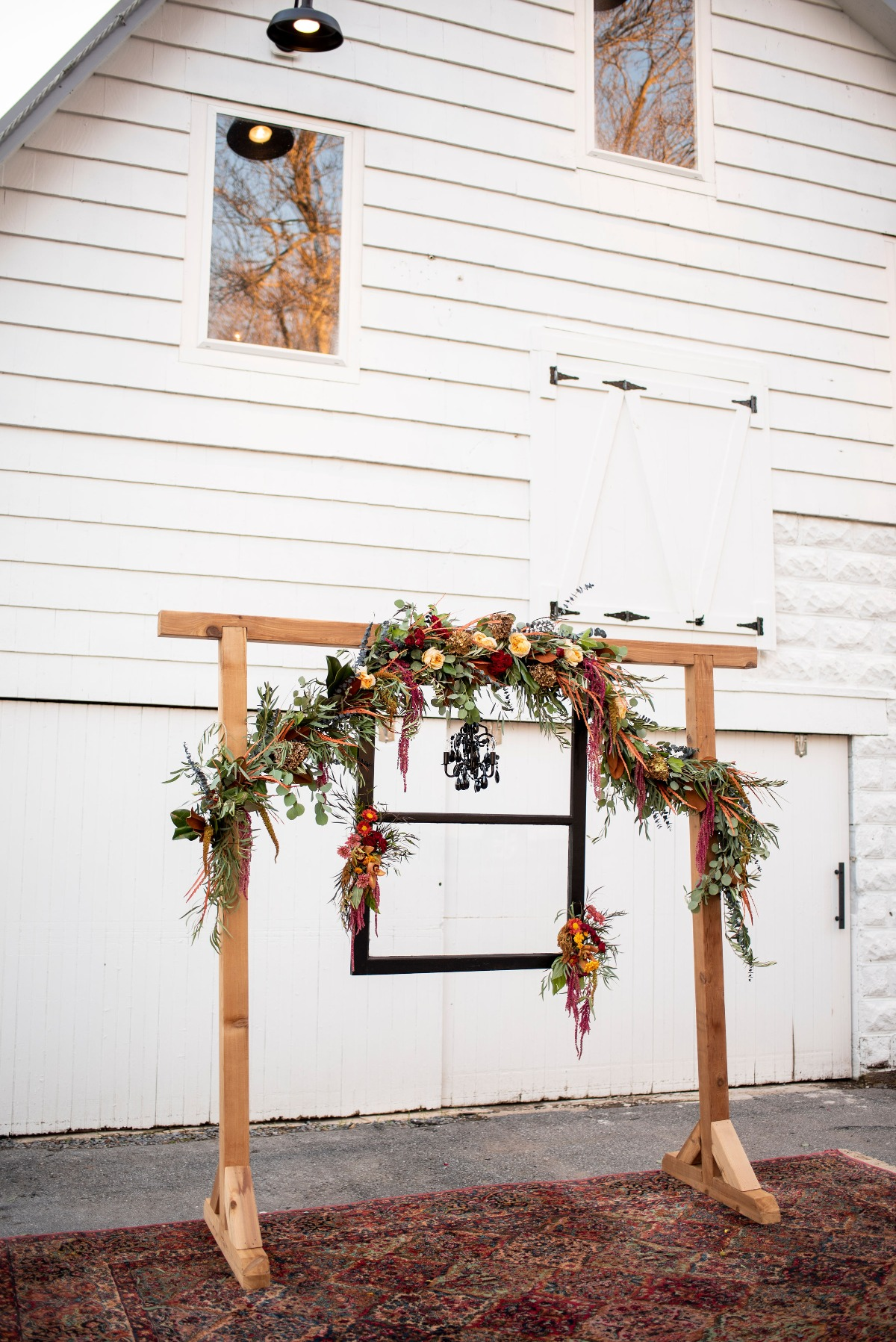 Fall boho wedding arbor