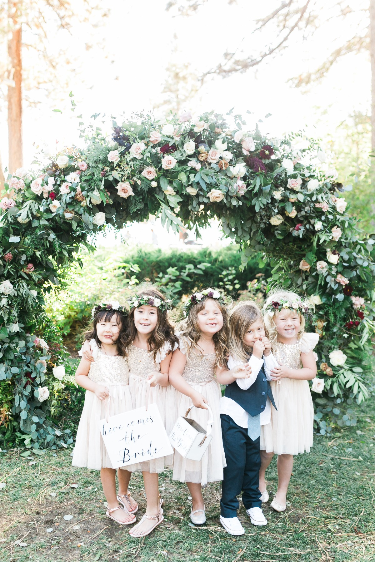 sweet little flower girls and ring bearer