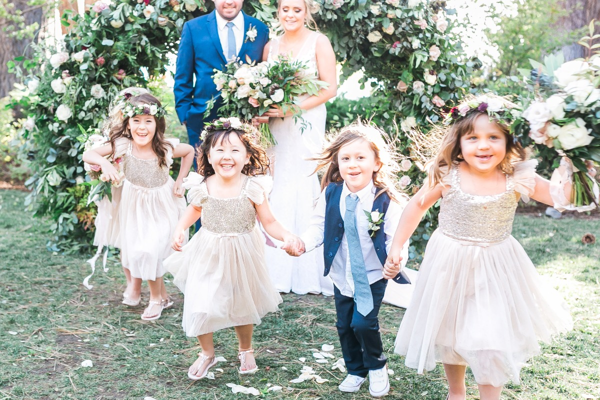 cute little flower girls and ring bearer