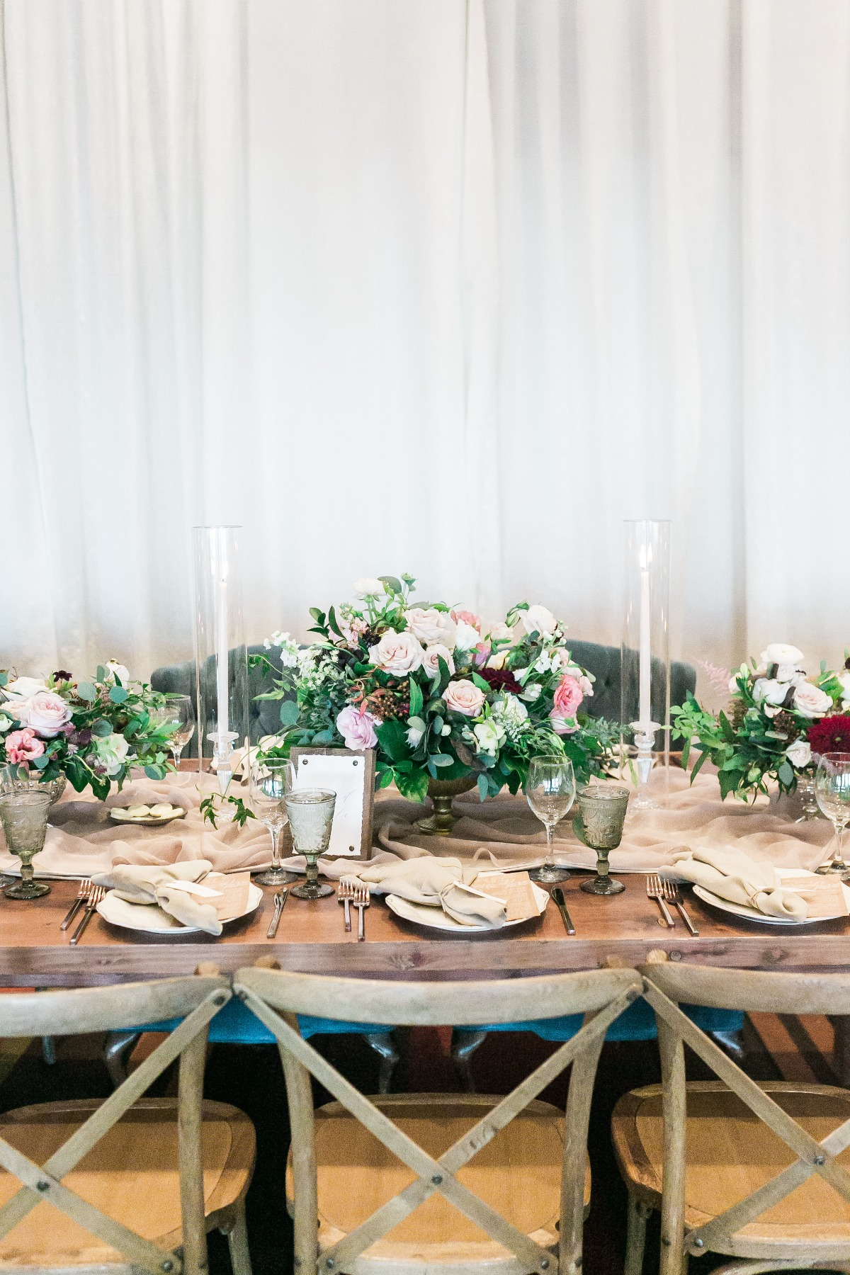 elegant rustic chic table decor