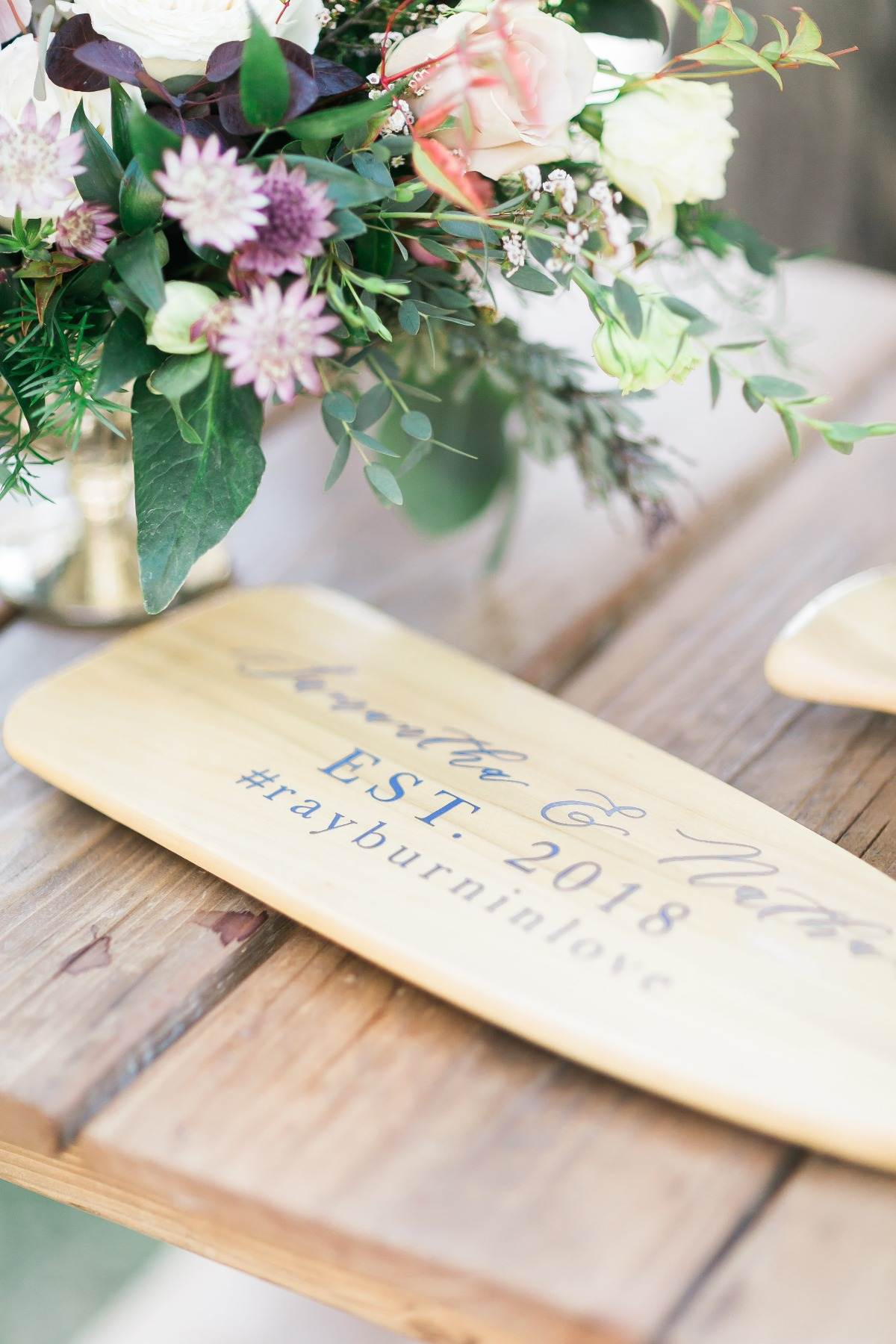 wedding guestbook canoe paddle