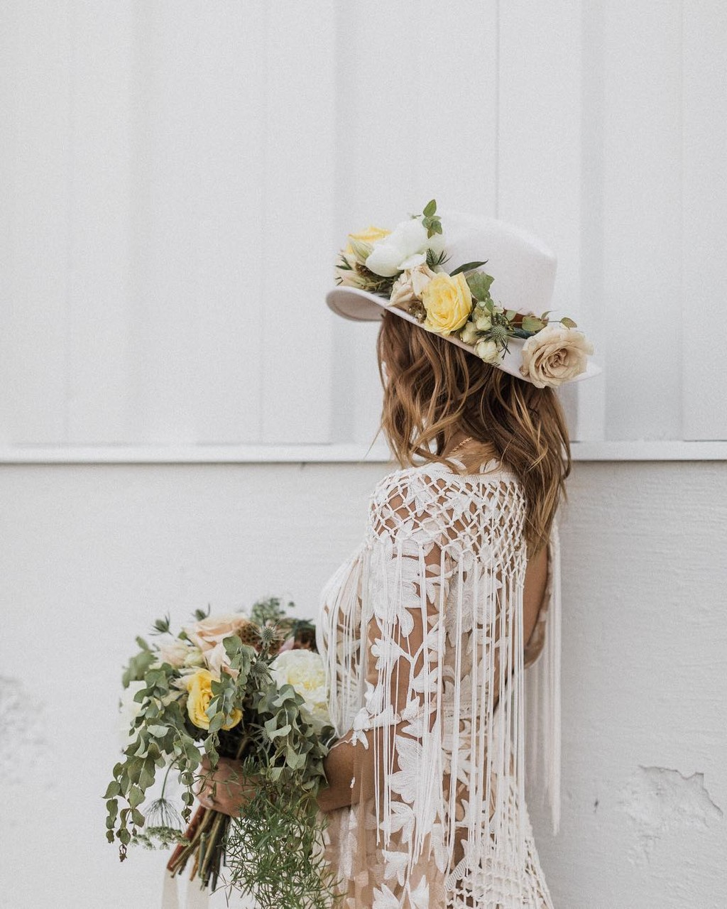 """With grace in your heart and flowers in your...hat!"" 🌸 Brides, would you rock one of these magnificent floral hats on your"