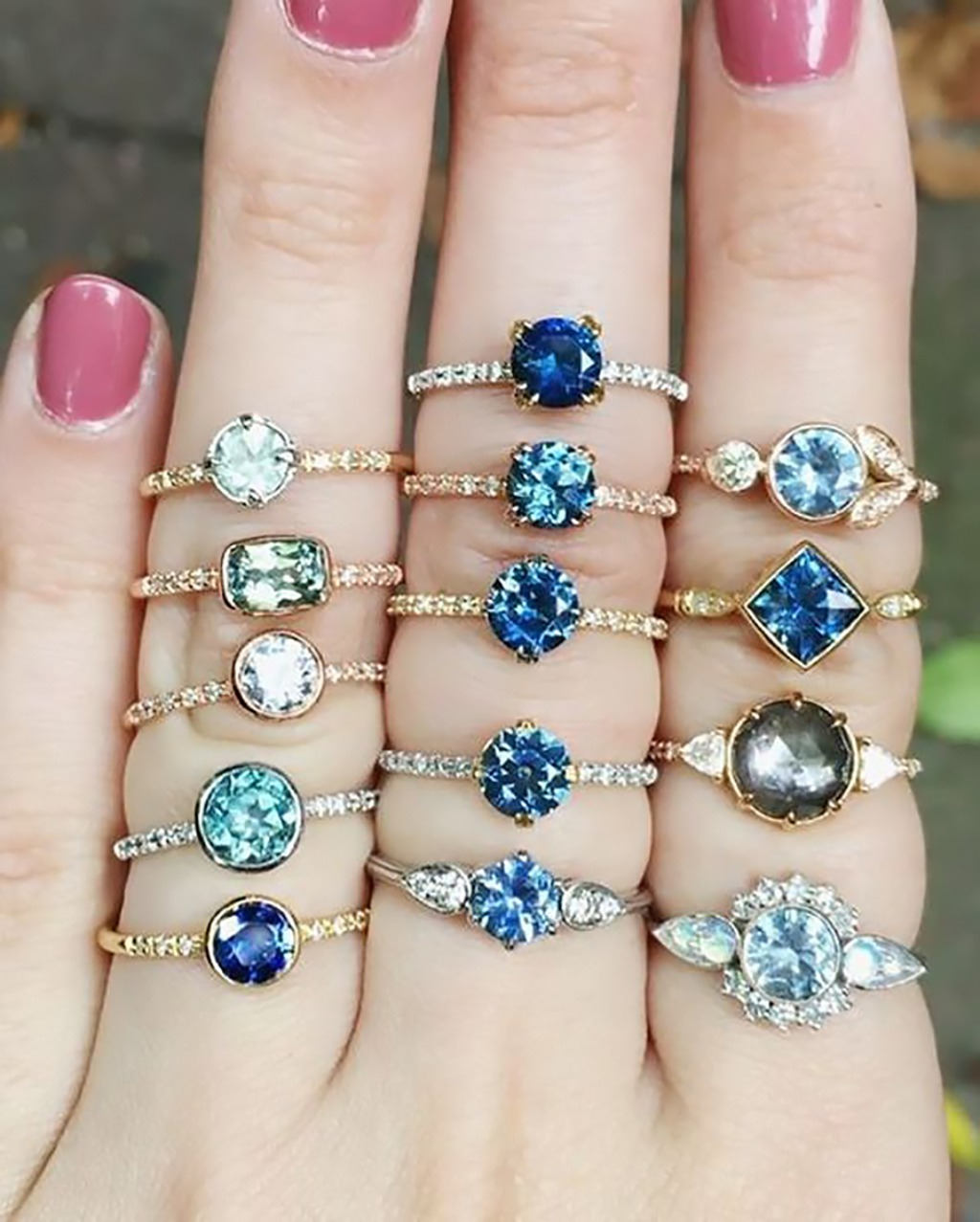 Montana sapphire, Teal Sapphire, Vintage and Modern Style Engagement Rings!!