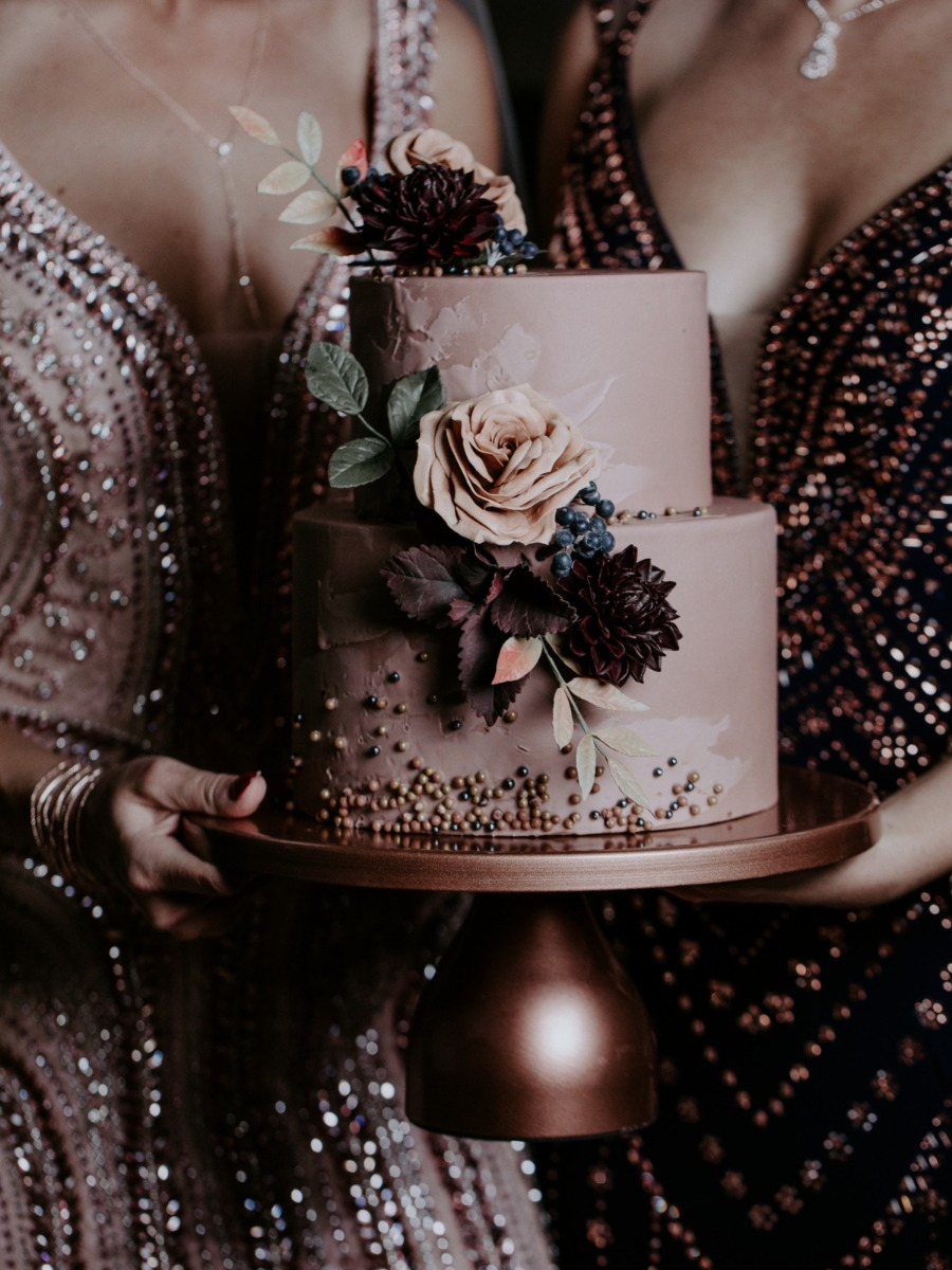 Fabulous Moody Jewel Toned Fall Wedding Cakes