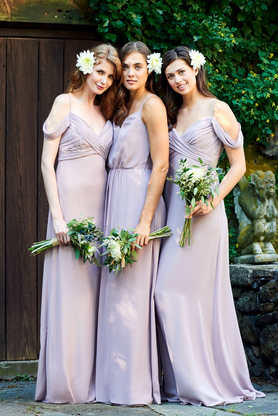 Khloe Jaymes Bridesmaids Dresses in Shades of Purple