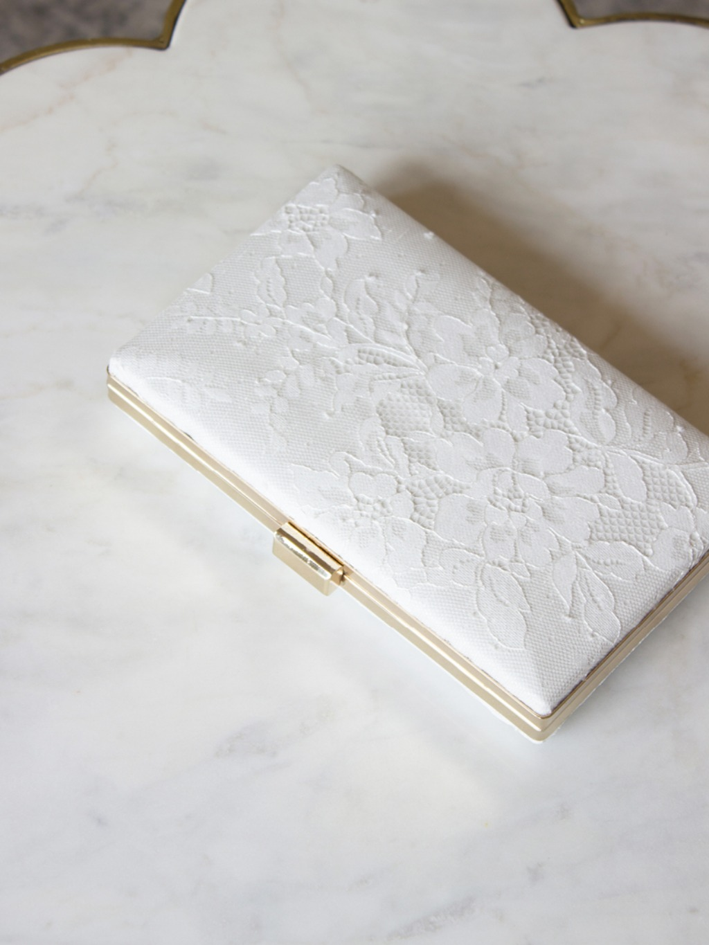 The ultra feminine Antoinette Box Clutch.