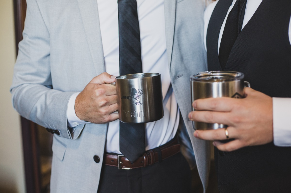 insulated mug groomsmen favors