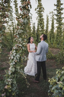 Old, New, Borrowed Or Blue, Who Cares This Wedding Has Beer