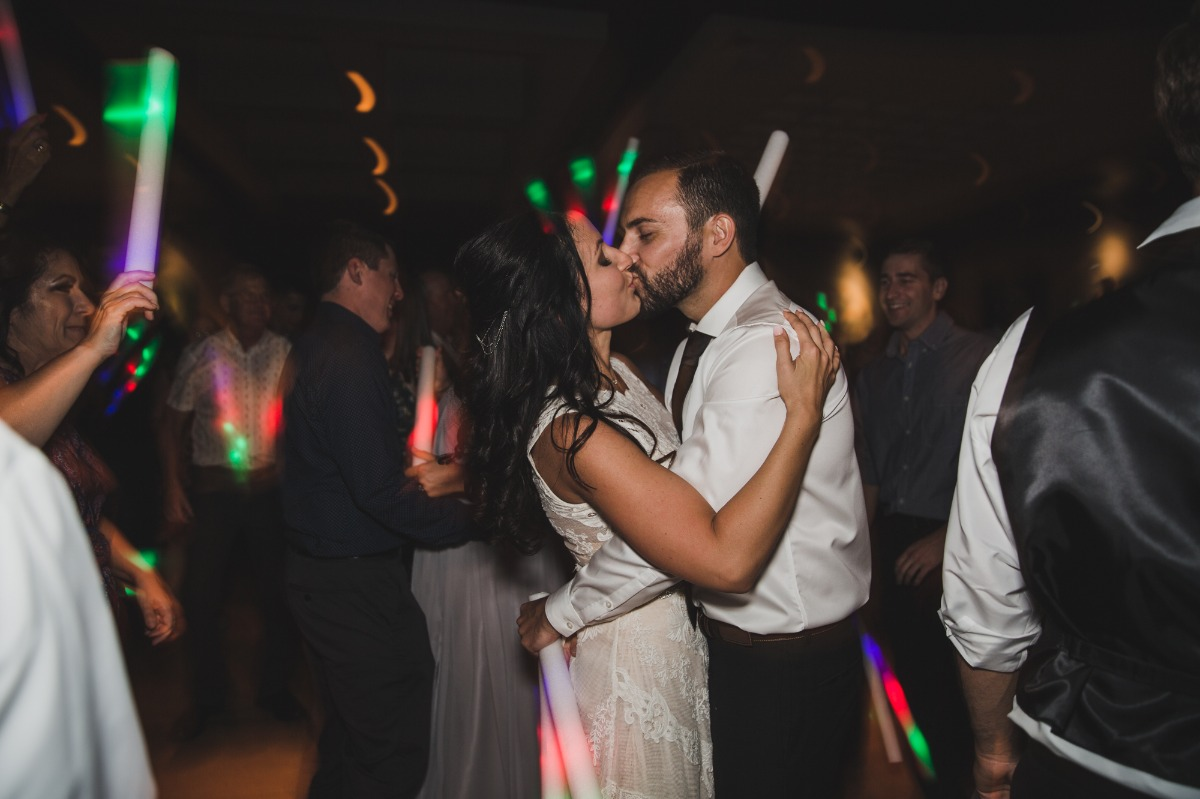 glow stick wedding dance