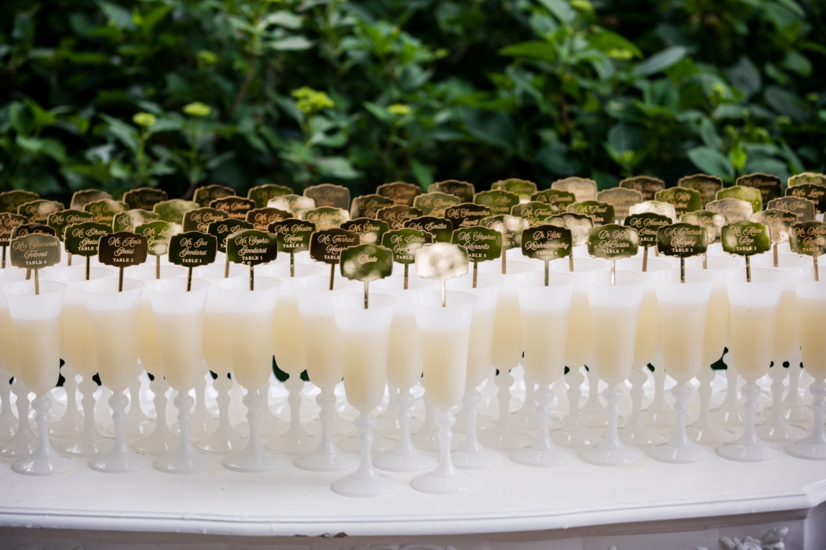 champagne escort cards
