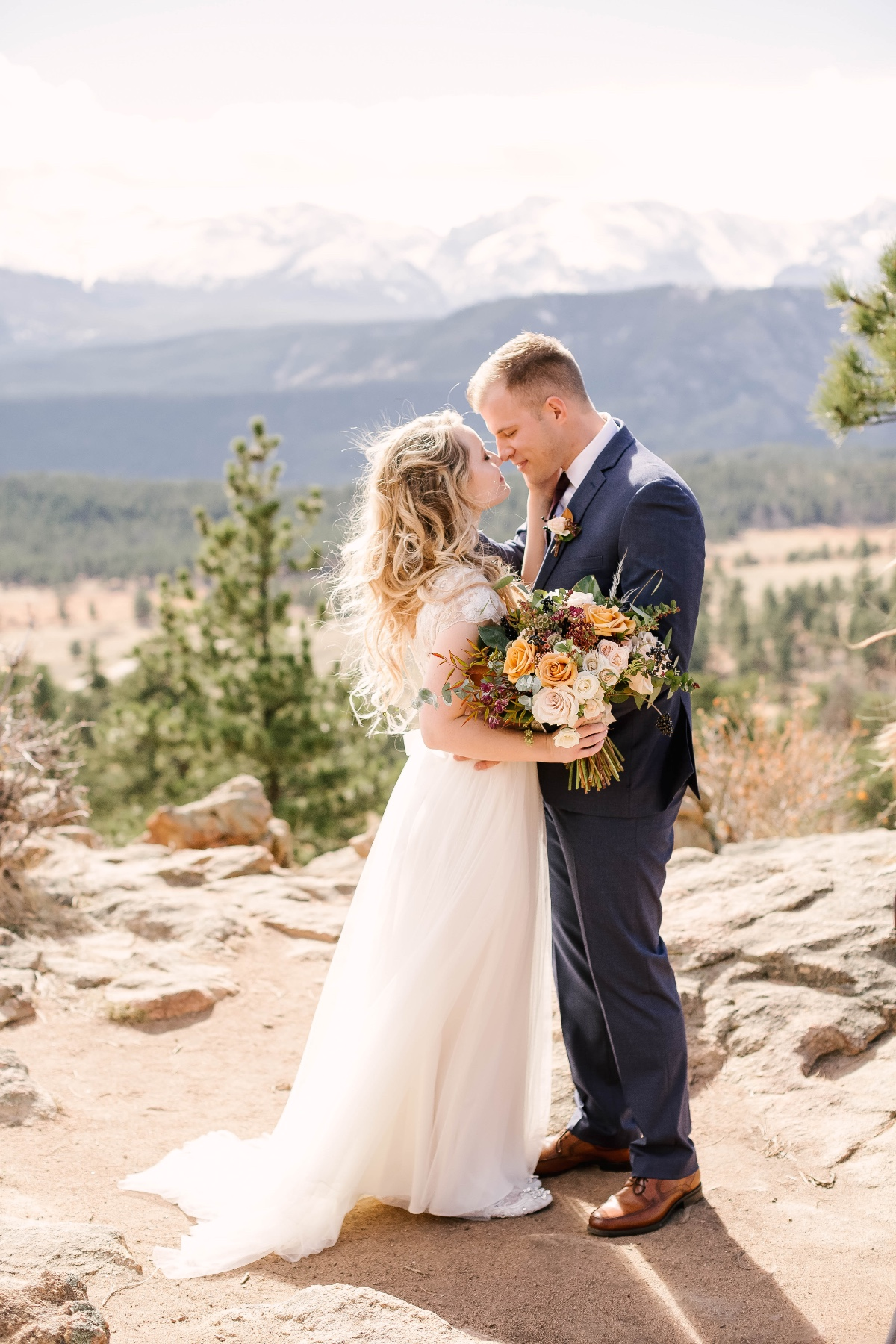 rocky mountain wedding day