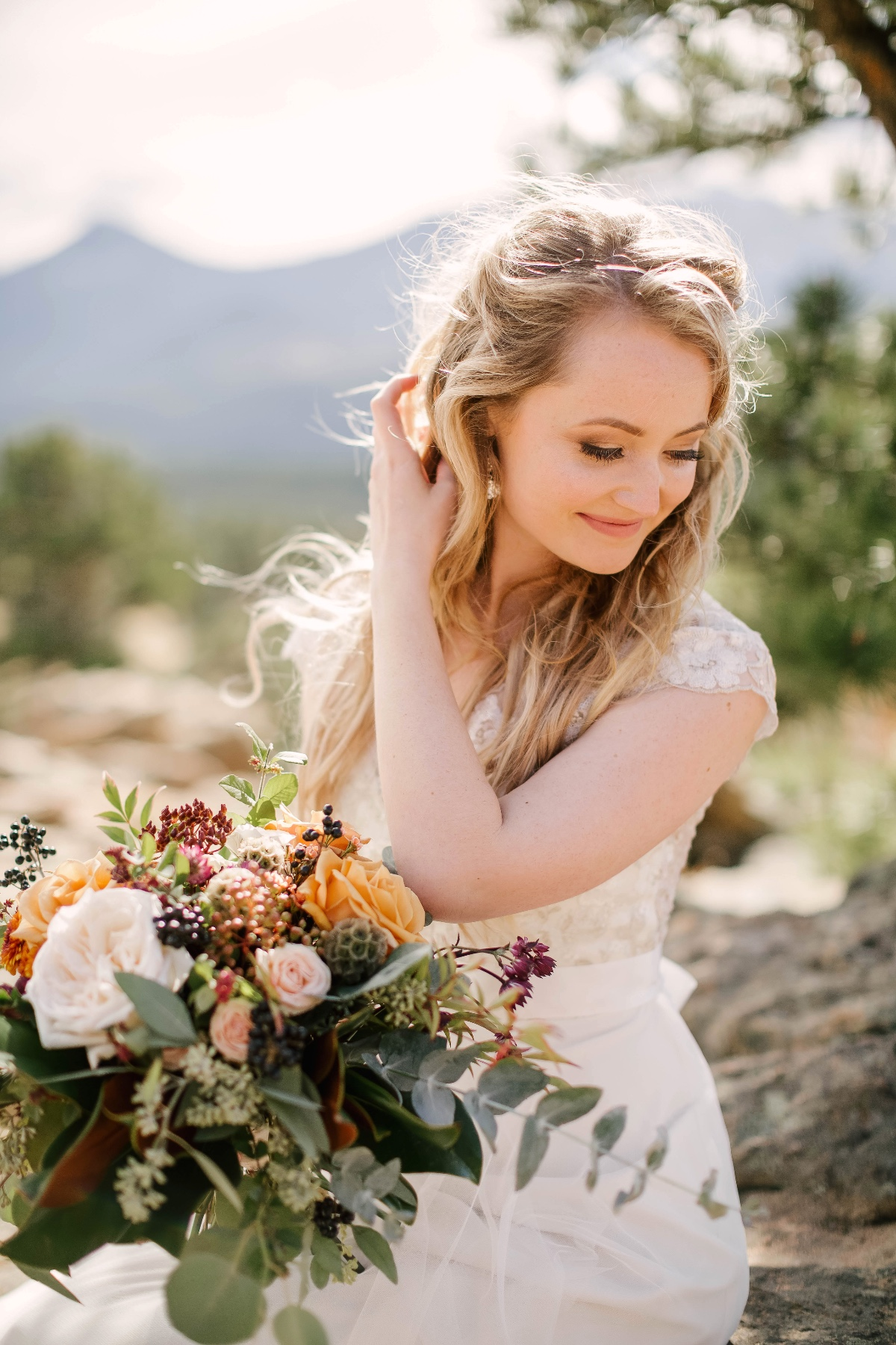 sweet and carefree bridal style