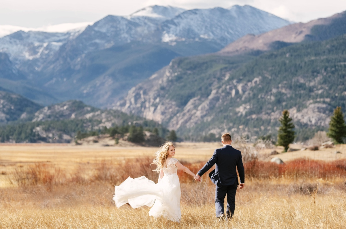 wedding in the Rock Mountains