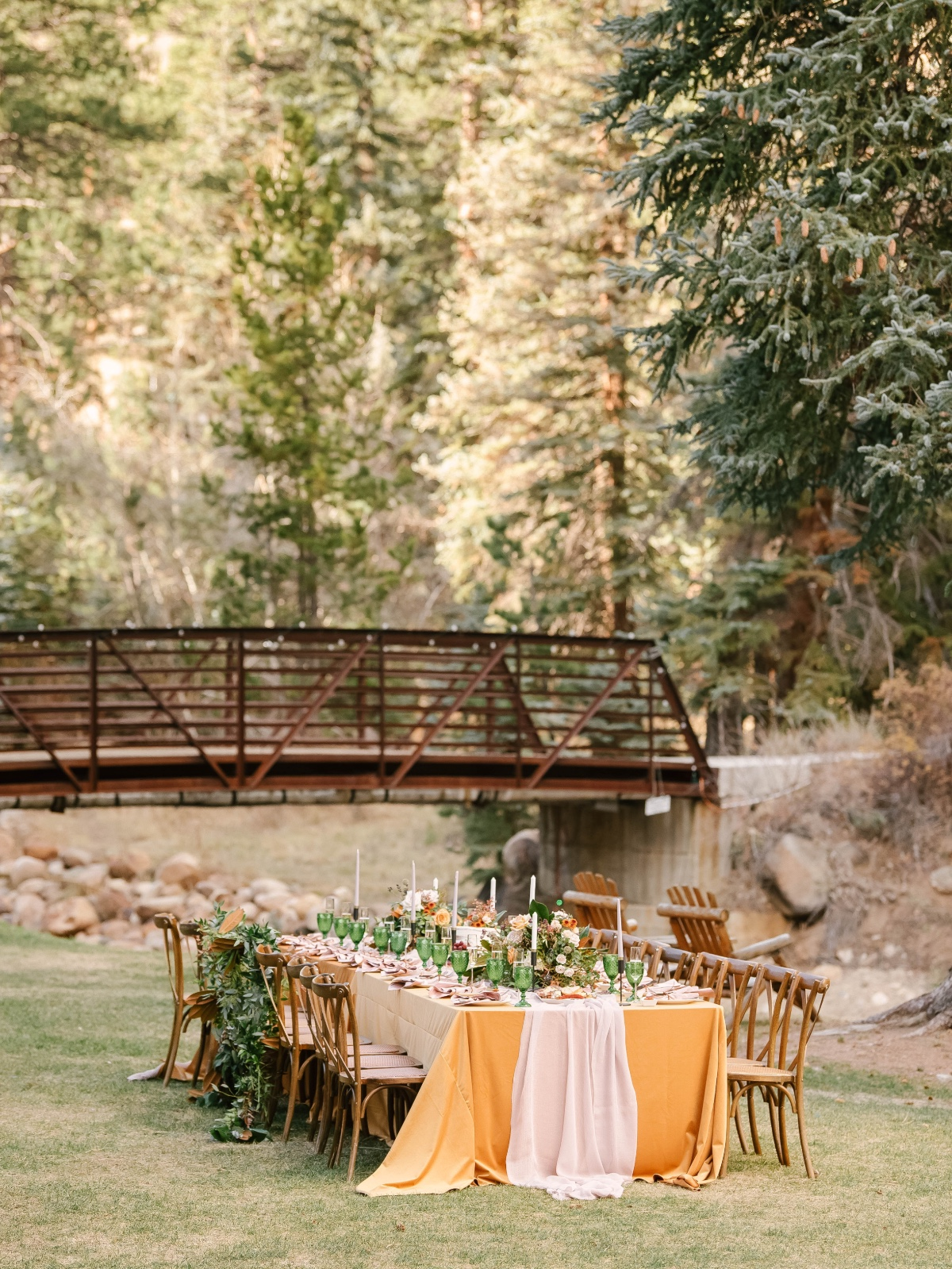 outdoor fall wedding reception