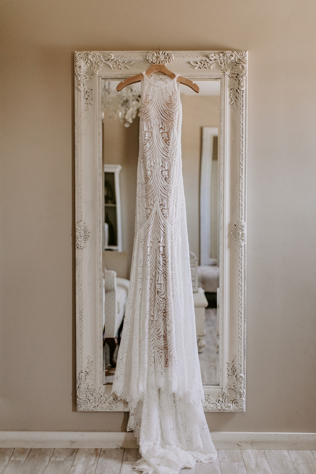 High neck wedding dress from Lover's Society from Lovely Bride