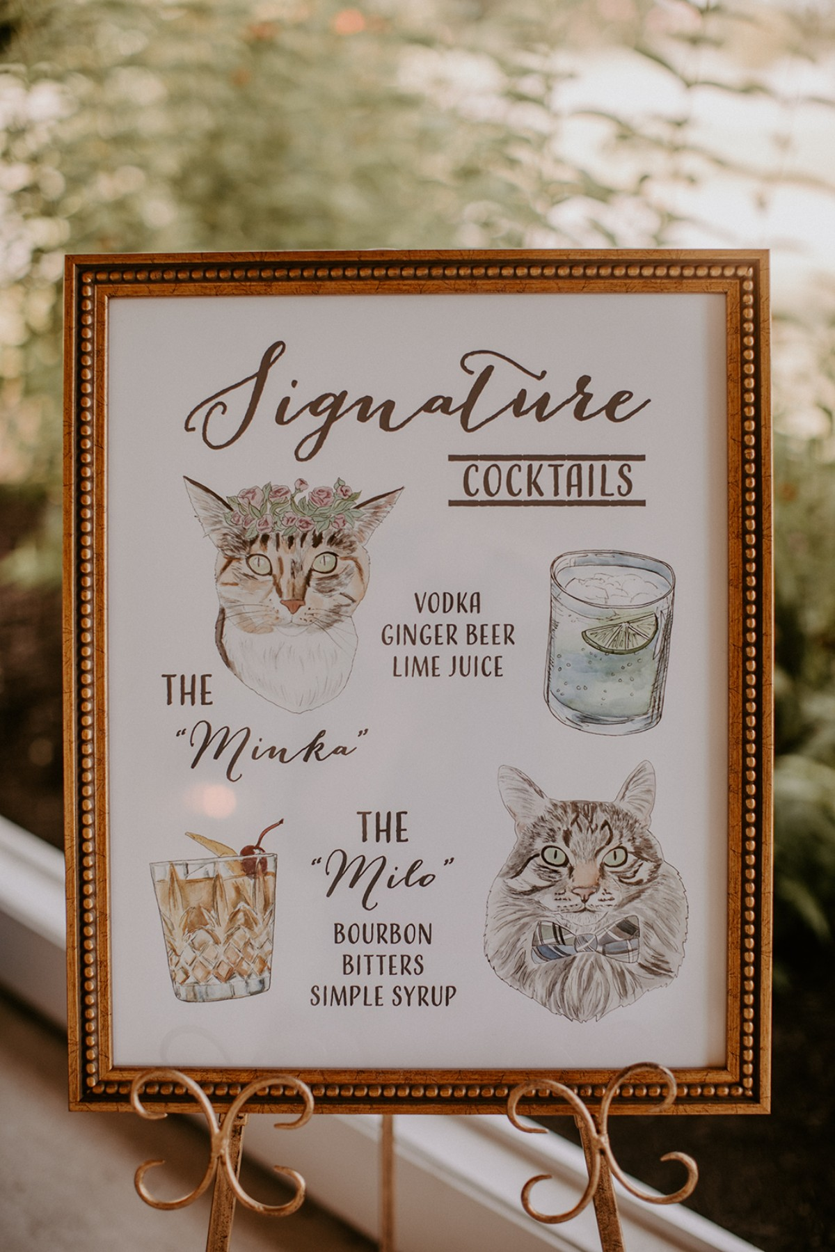 Wedding cocktail sign