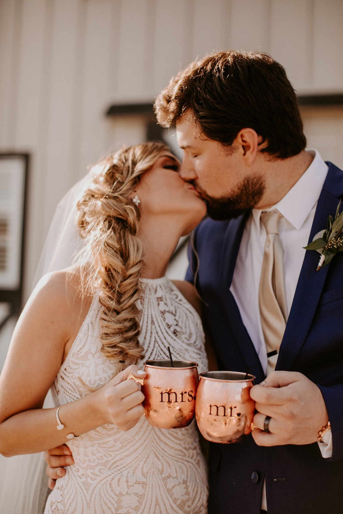 Mr. and Mrs. copper mugs