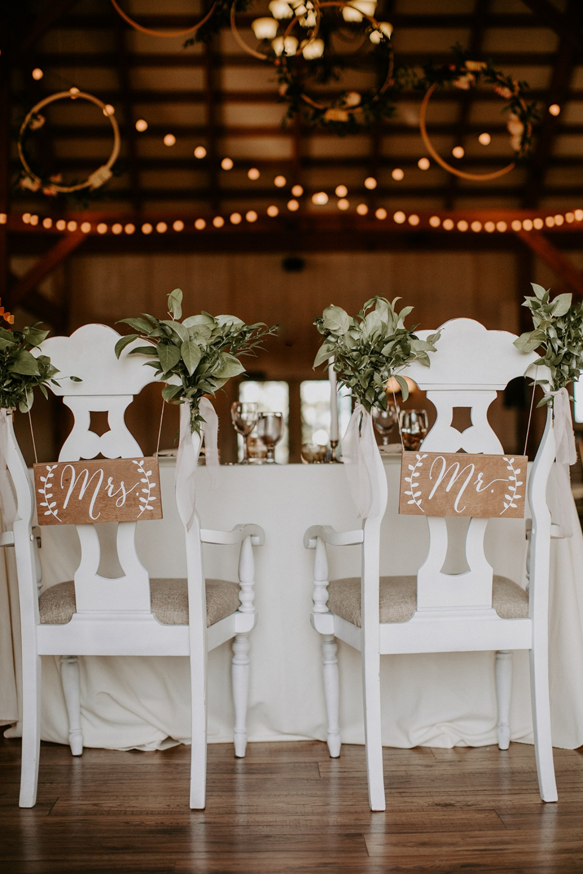 Sweetheart table chairs