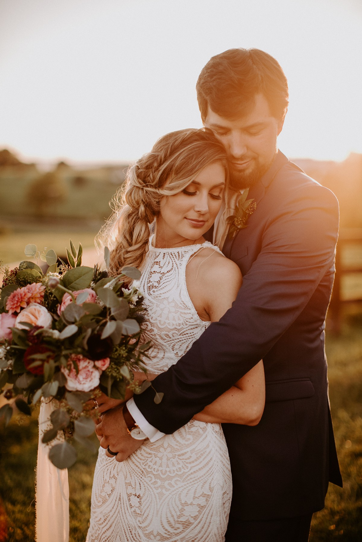 Rachel and Nicks romantic laid-back wedding