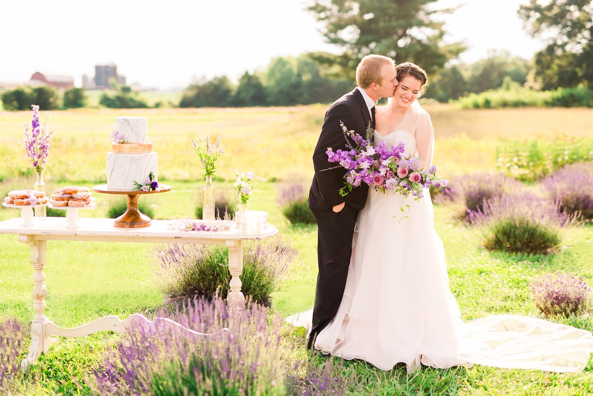 Lavender field wedding inspiration