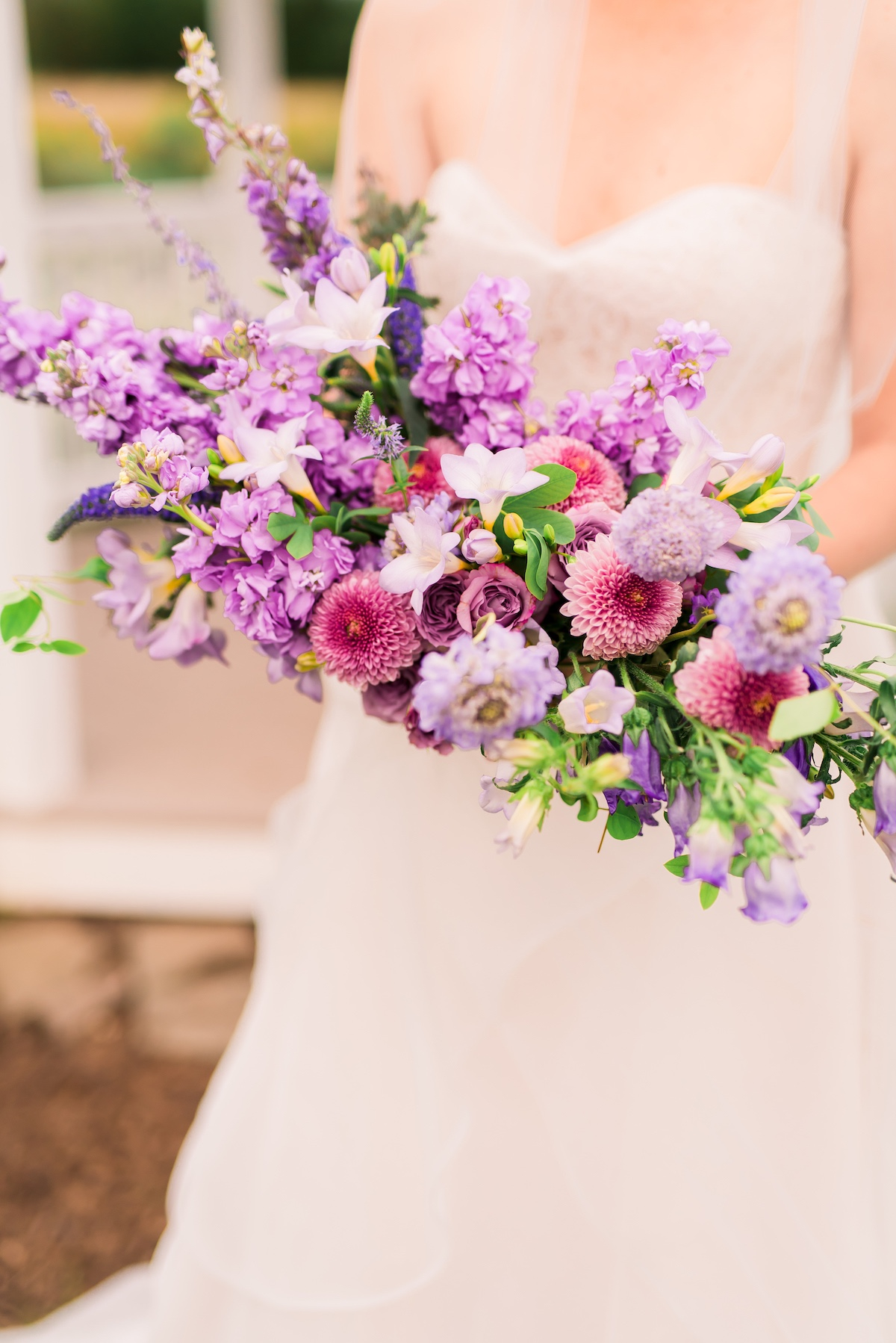 Purple lavender wedding bouquet