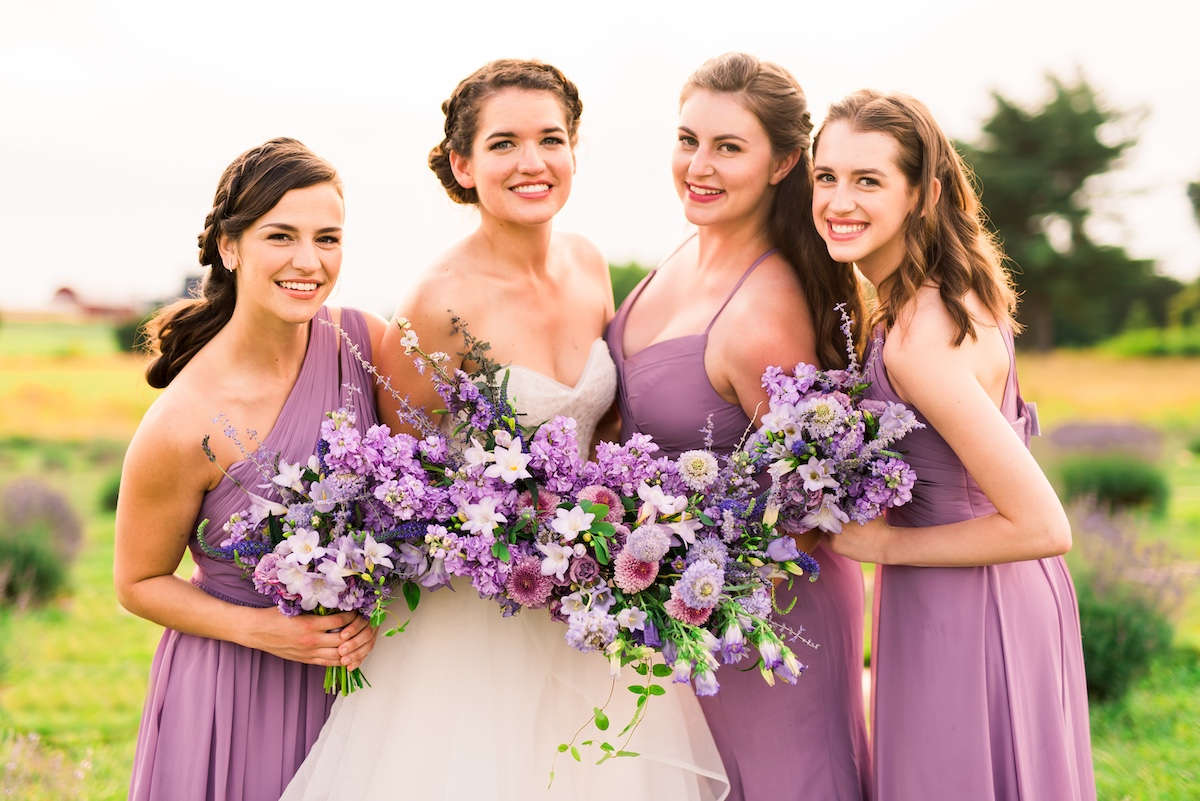 Lavender inspired bridesmaid look