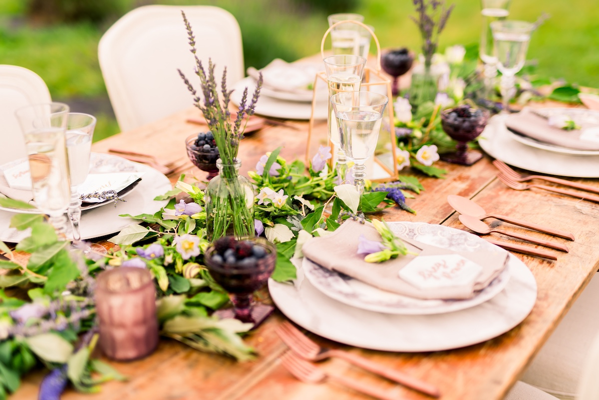 Lavender inspired tablescape