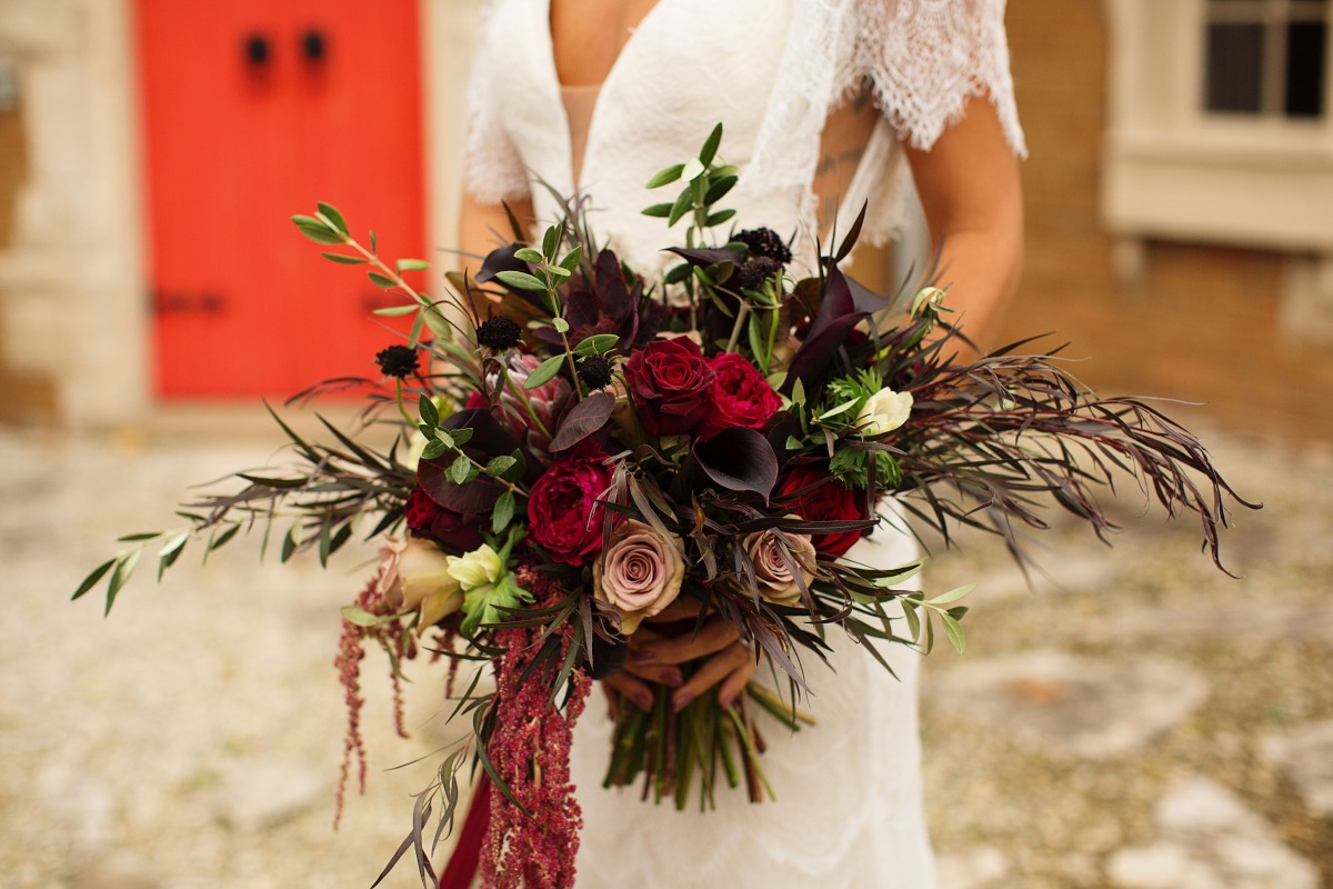 winter season wedding bouquet