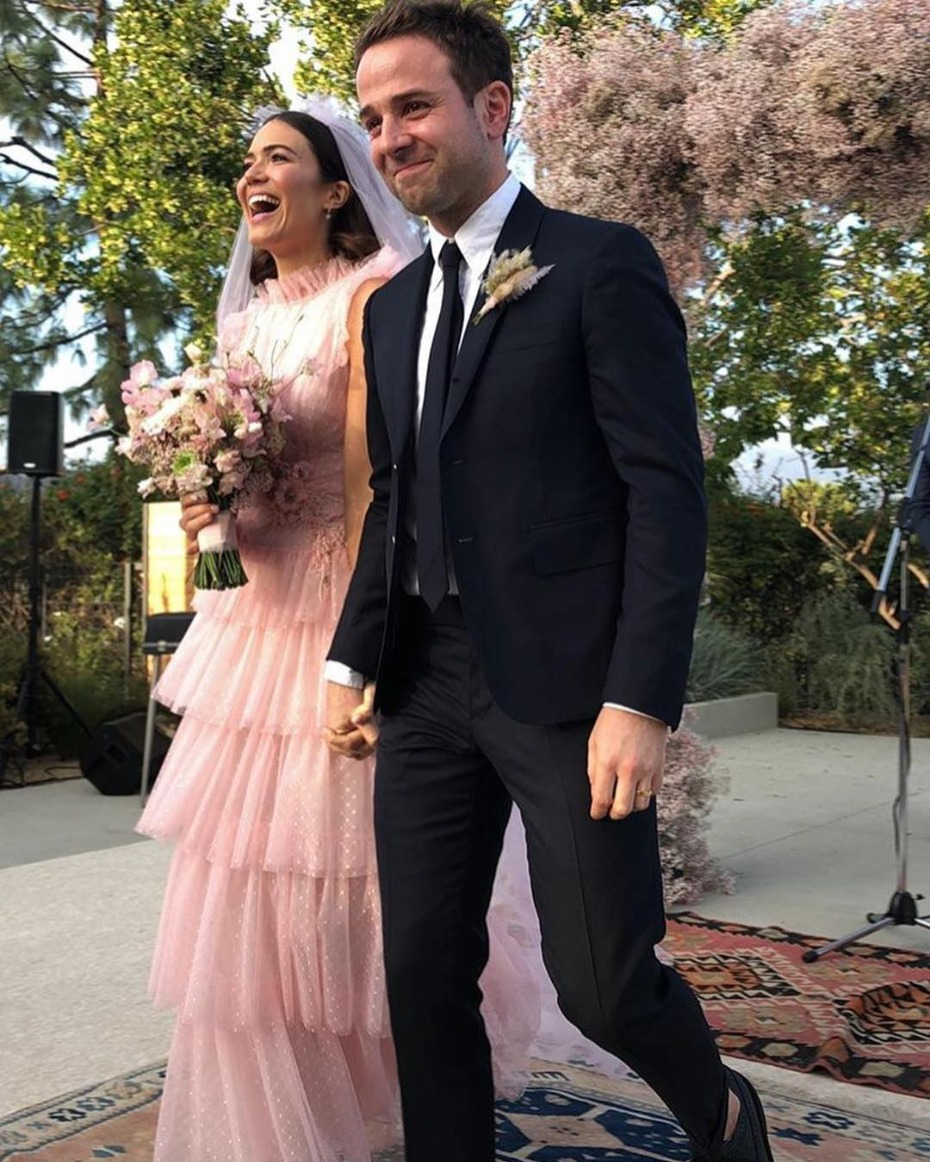 Mandy Moore Pink Tulle Tiered Wedding Gown Rodarte
