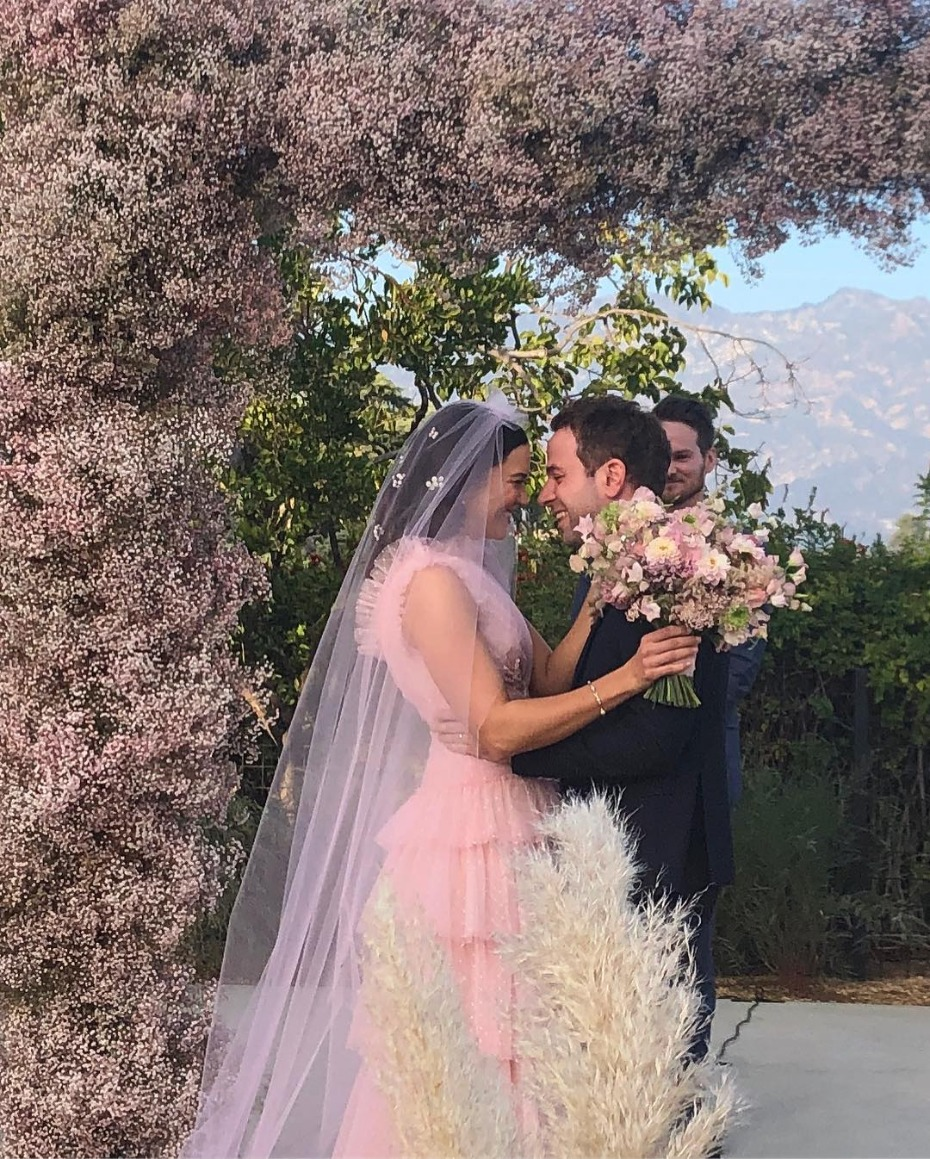 Mandy Moore and Taylor Goldsmith Wedding Day