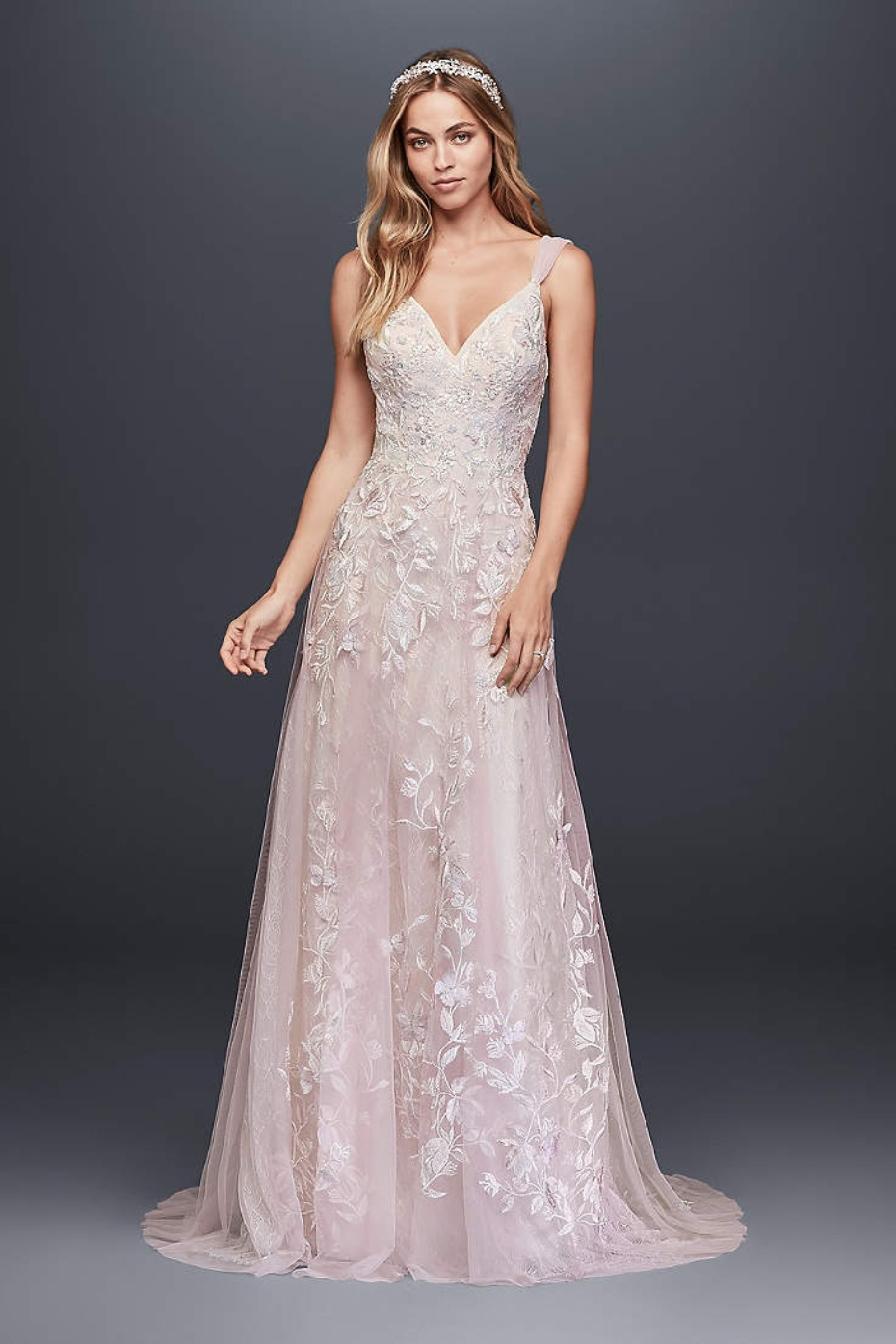 Melissa Sweet Butterfly Appliqued Tulle A-Line Wedding Dress