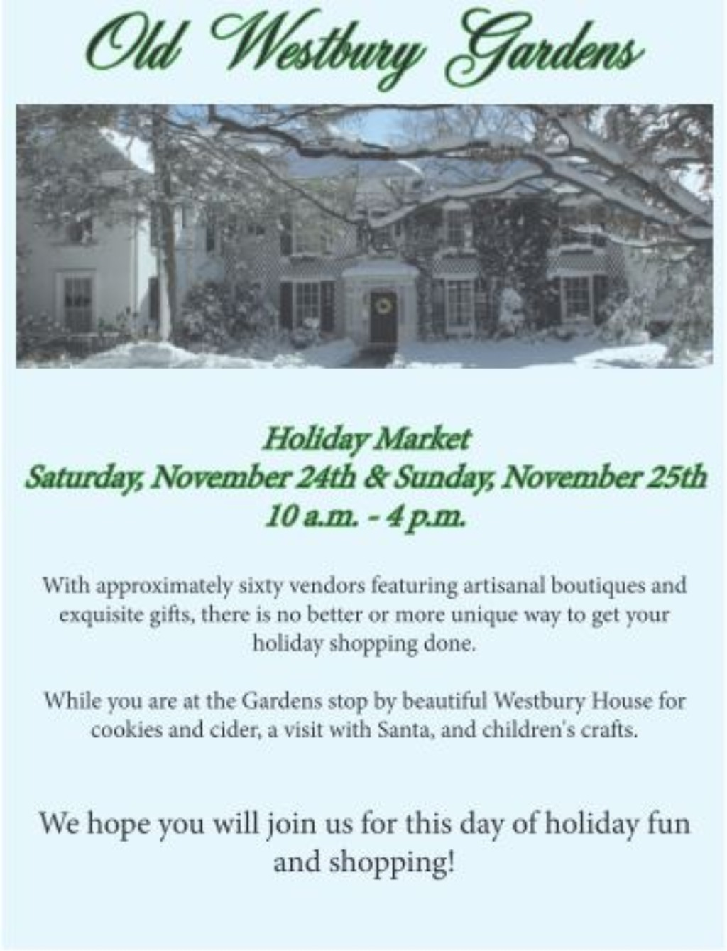 Old Westbury Holiday Market