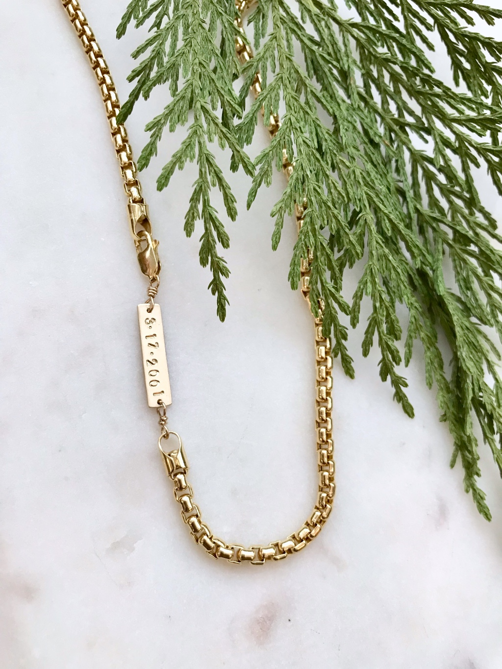 Personalized Men's Chains. The perfect subtle meaningful gift for him.