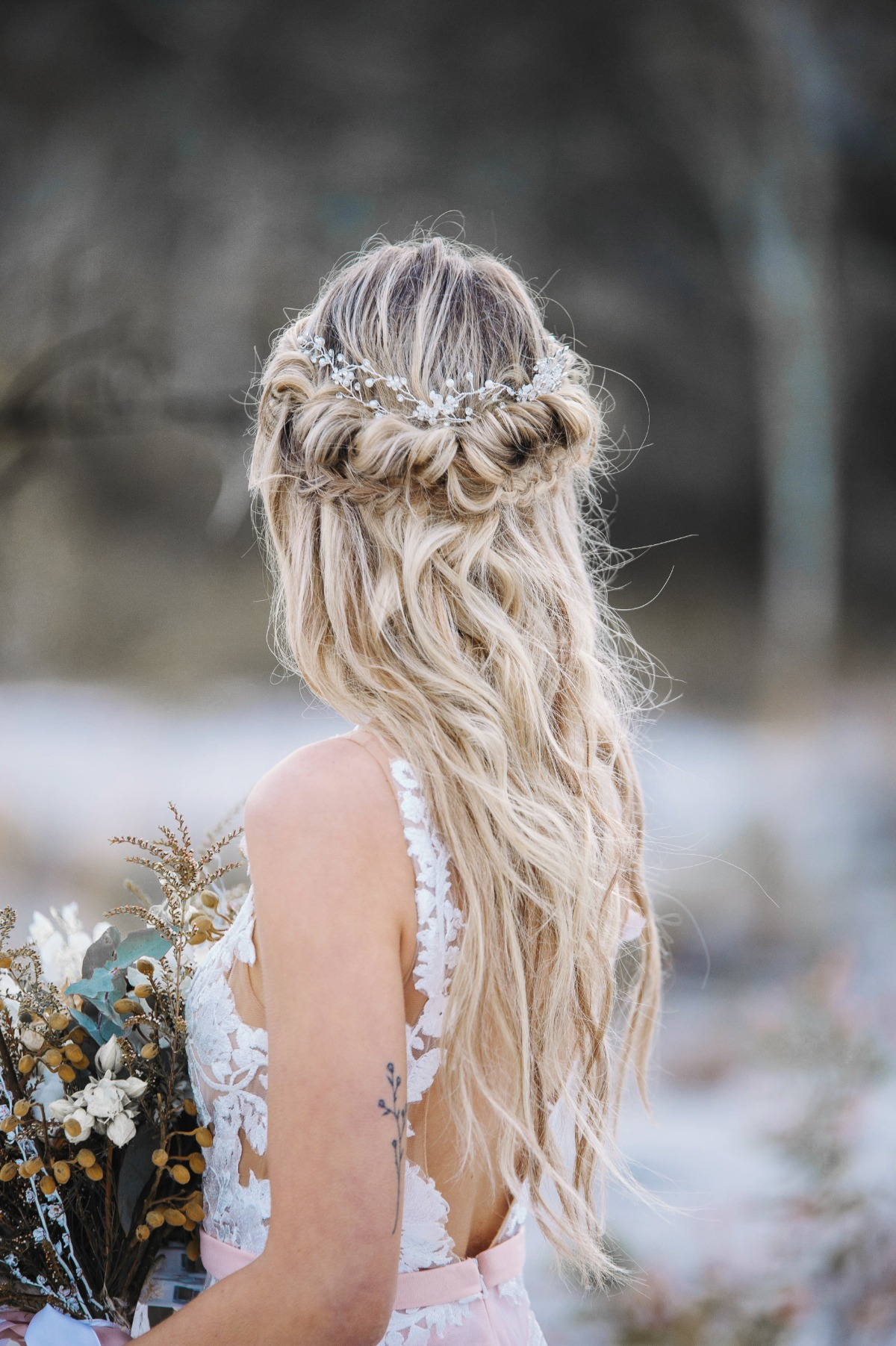 Bride mermaid hair