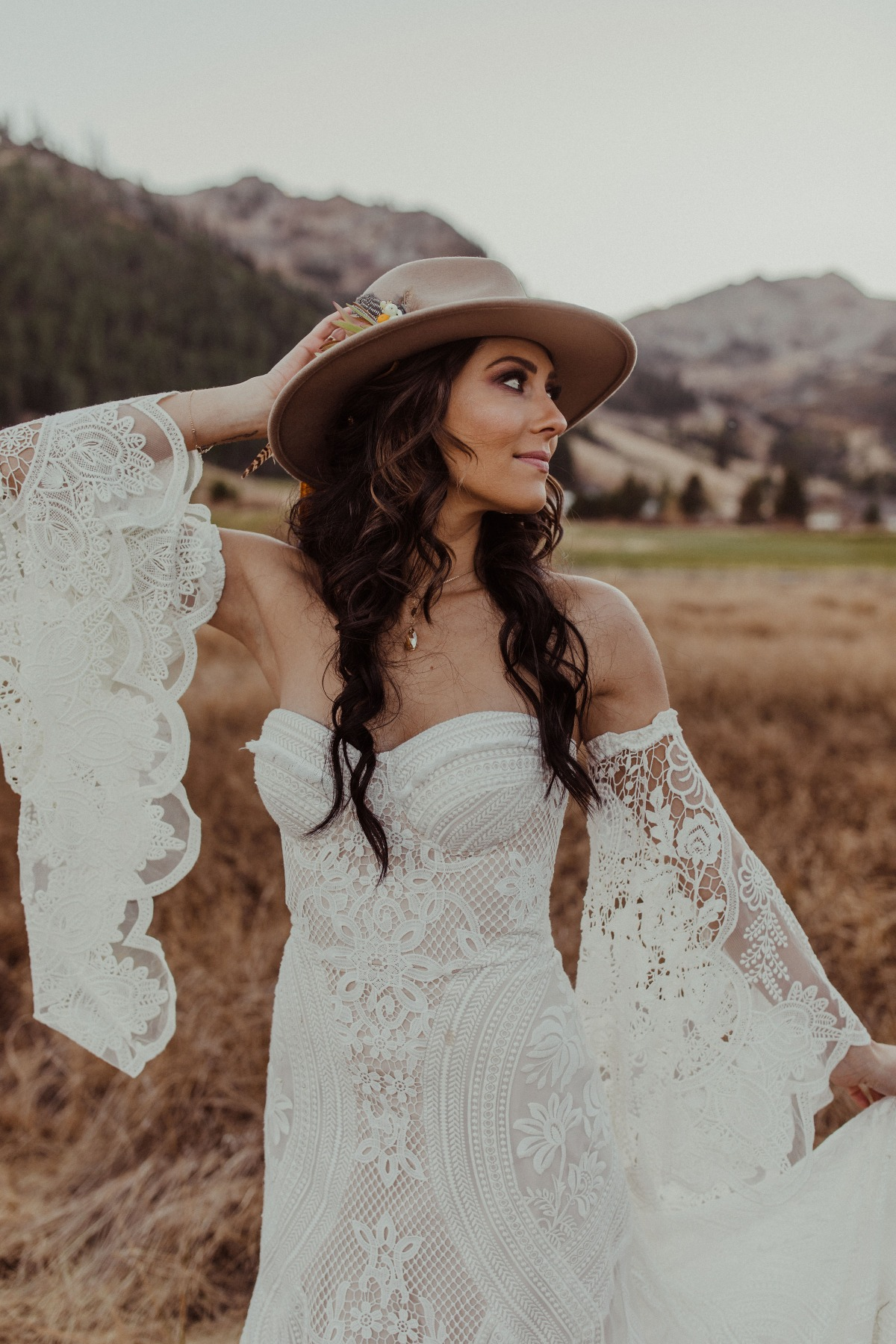 Boho wedding dress by Rue de Seine