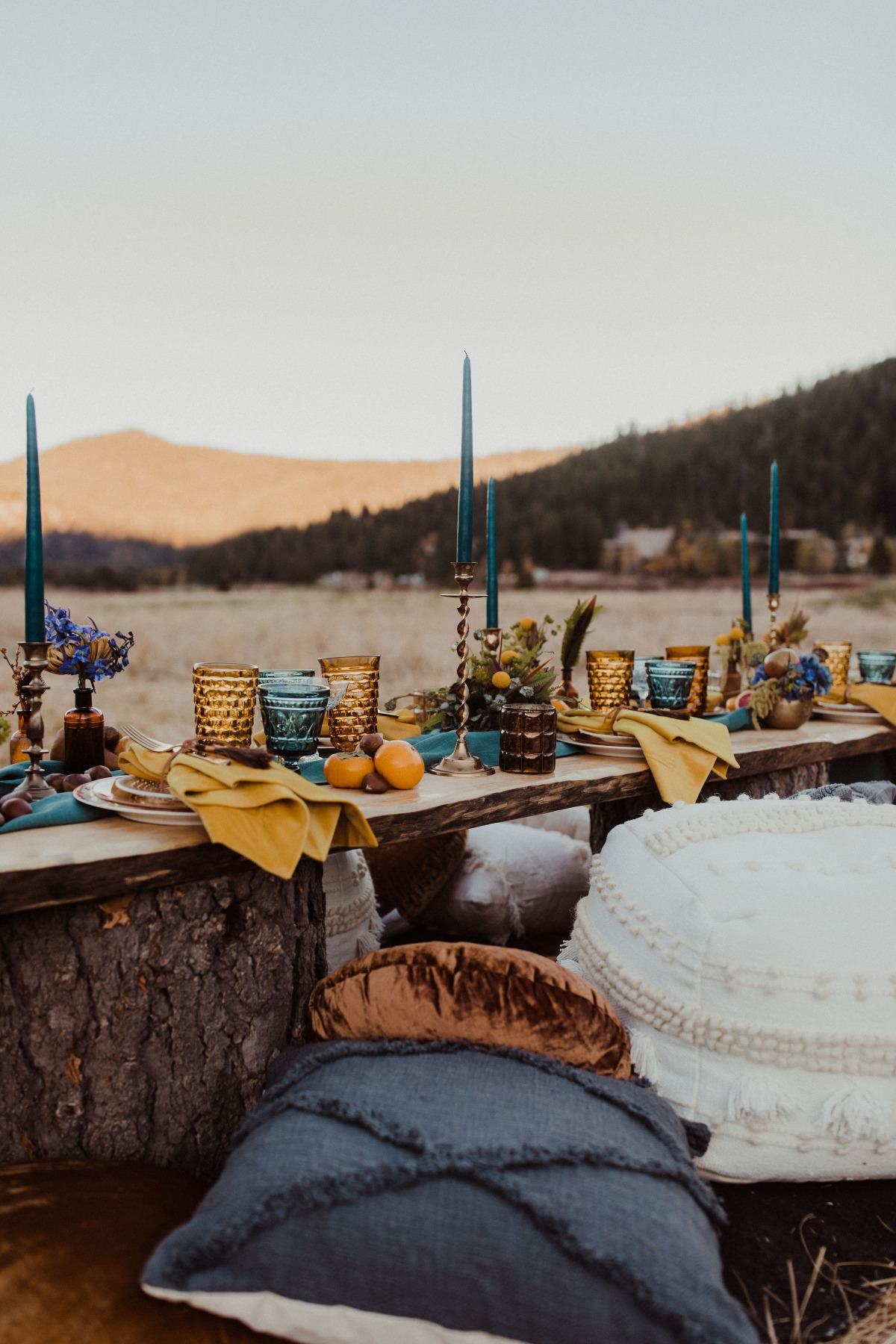 Boho fall tablescape