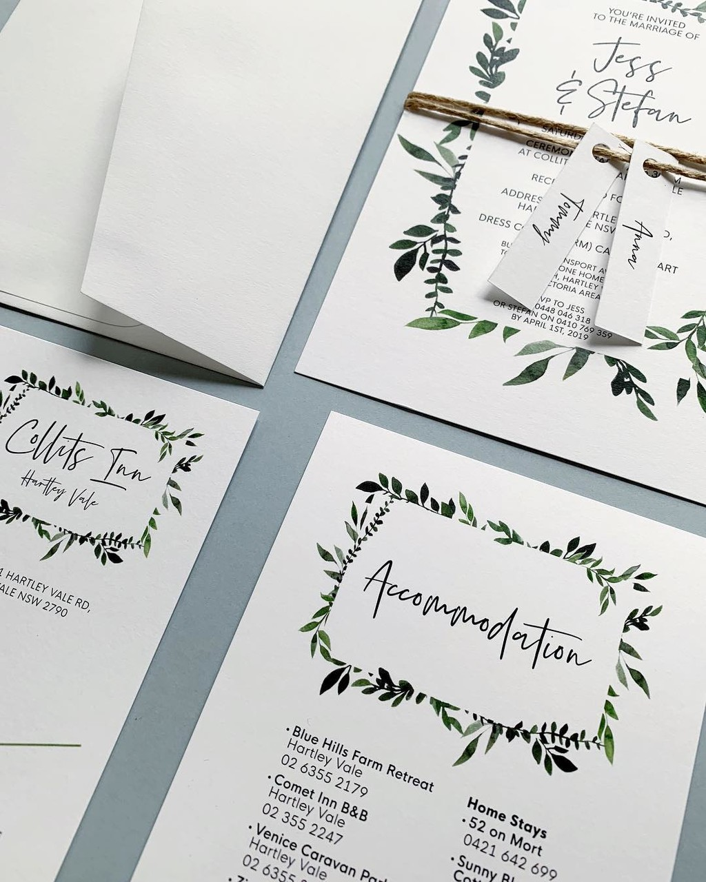 """""""Jungle Fun"""" Wedding Invitation Design with custom designed map, accommodation card and name tags 💍"""