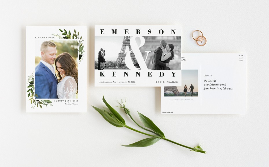 Minted Postcard Save the Date