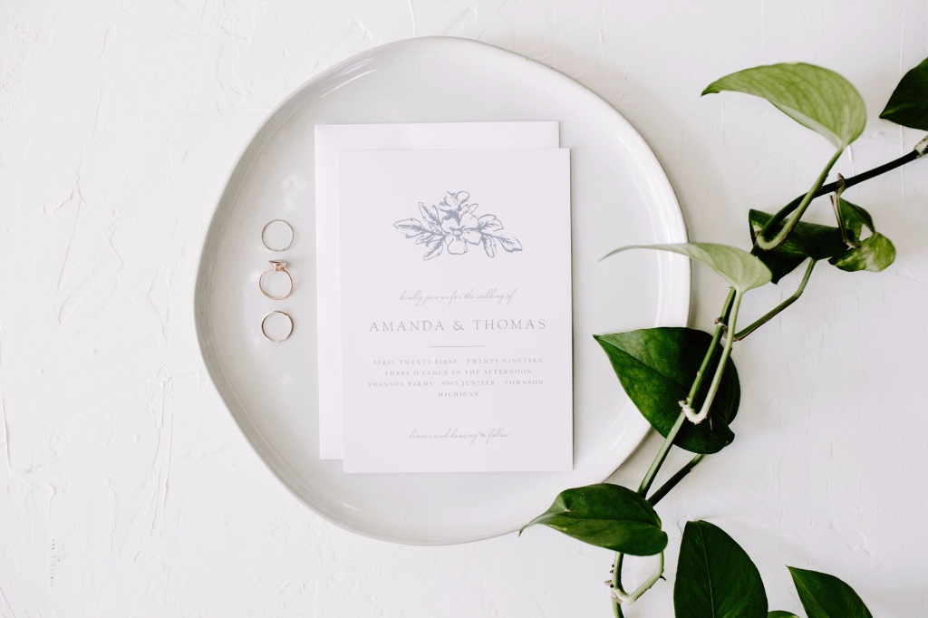 Our Soft Morning Wedding Invitations are soft and delicate, perfect for your winter or spring nuptials!