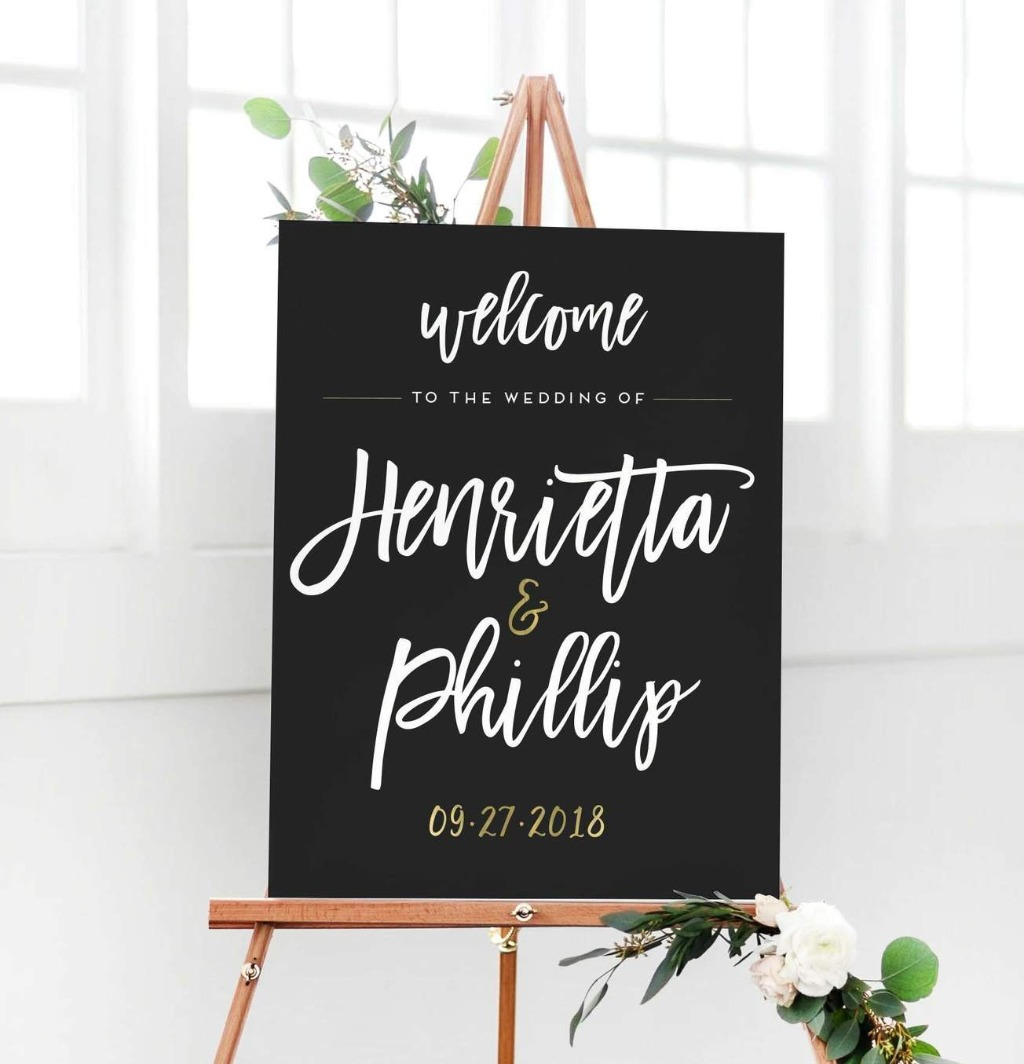 Welcome your guests to your big day in style with this awesome Wedding Welcome Sign from Miss Design Berry!!