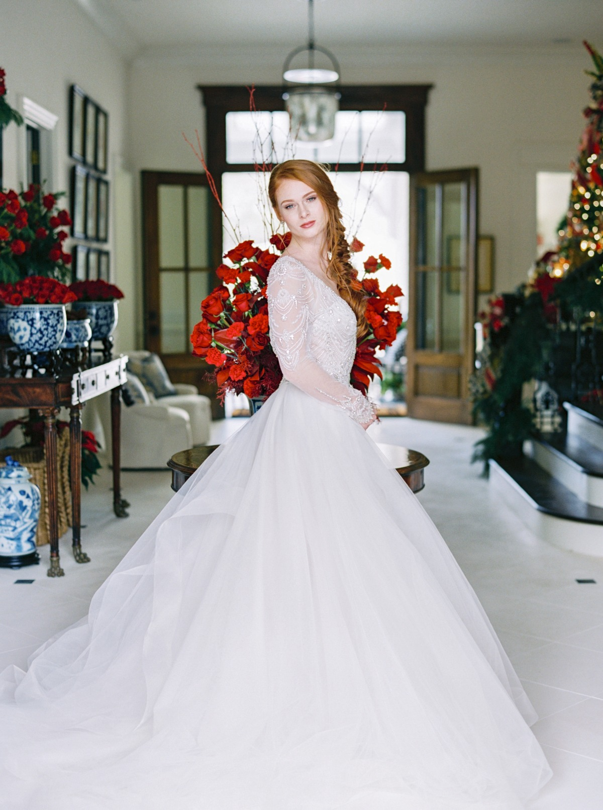 Christmas bridal session